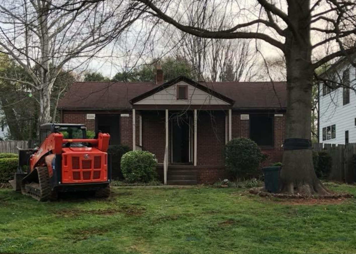 Charlotte New Build - Tear Down Renovation, BEFORE - Timberline Homes & Laura Design Co.