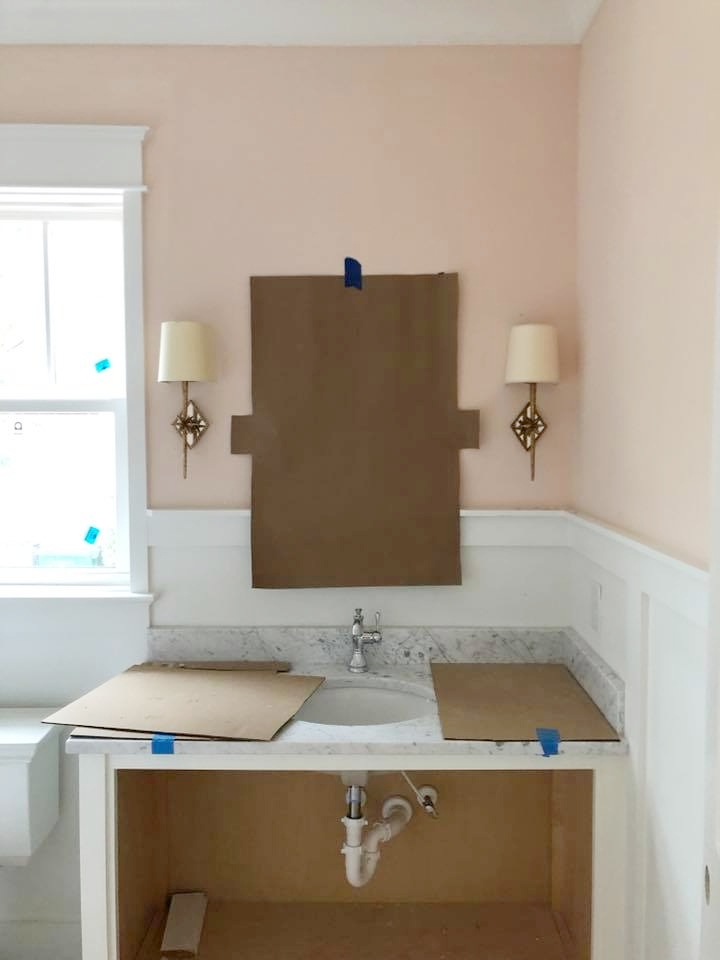 Farrow & Ball Pink Ground Walls- New Construction, Charlotte NC by Timberline Homes, Interior Design by Laura Design Co.