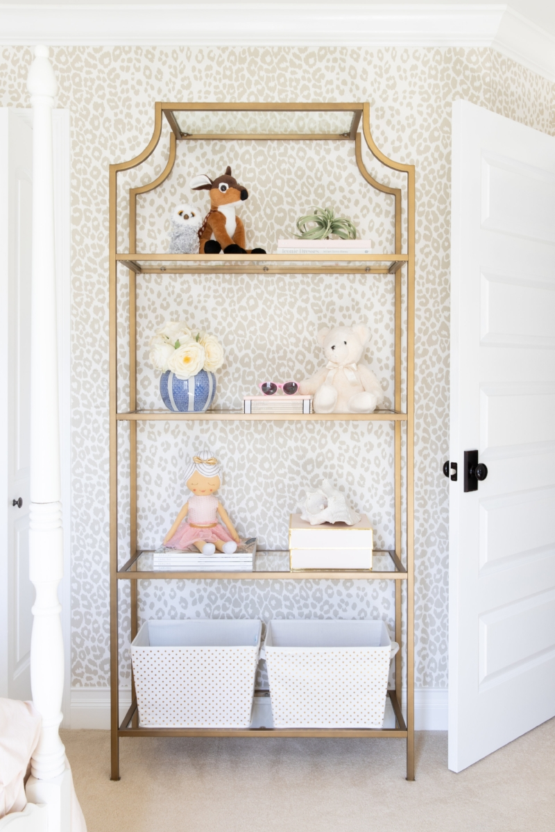 Bookcase Styling - Tween Girls Bedroom Design by Laura Design Co., Photo by Emily Kennedy
