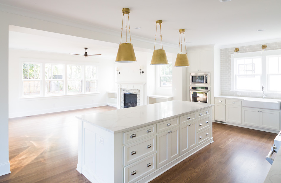 New Construction by Timberline Homes of North Carolina, Interior Design by Laura Design Company of Chicago