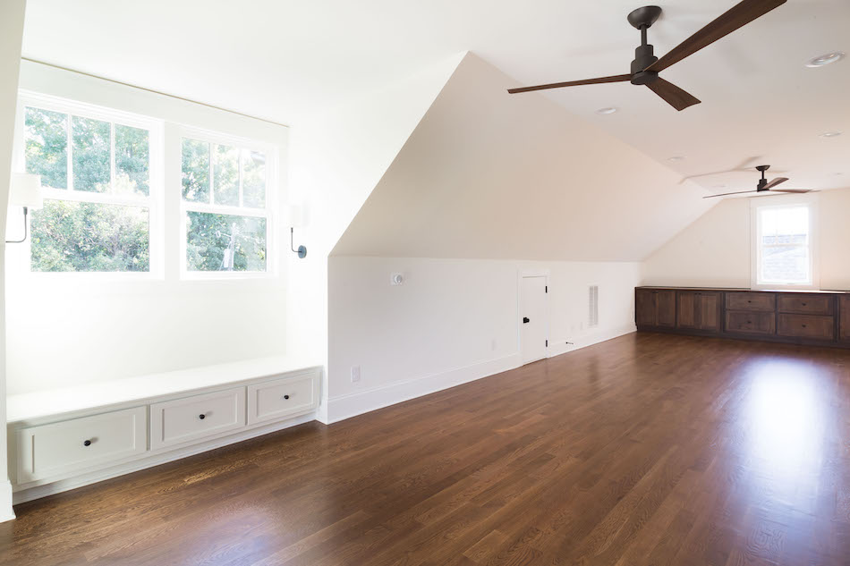 Finished attic space- Interior Design by Laura Design Co.