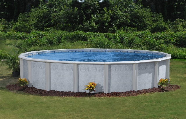 "Palm Shore Doughboy Above Ground Pool  52"" Walls - Super Wide 8 1/2"" Top Rail - Rock-Solid Strength"