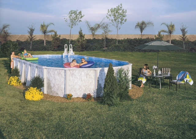 """Silver Lake Doughboy Above Ground Pool  52"""" Walls - Strong 6"""" Top Rail - Rugged & Beautiful"""