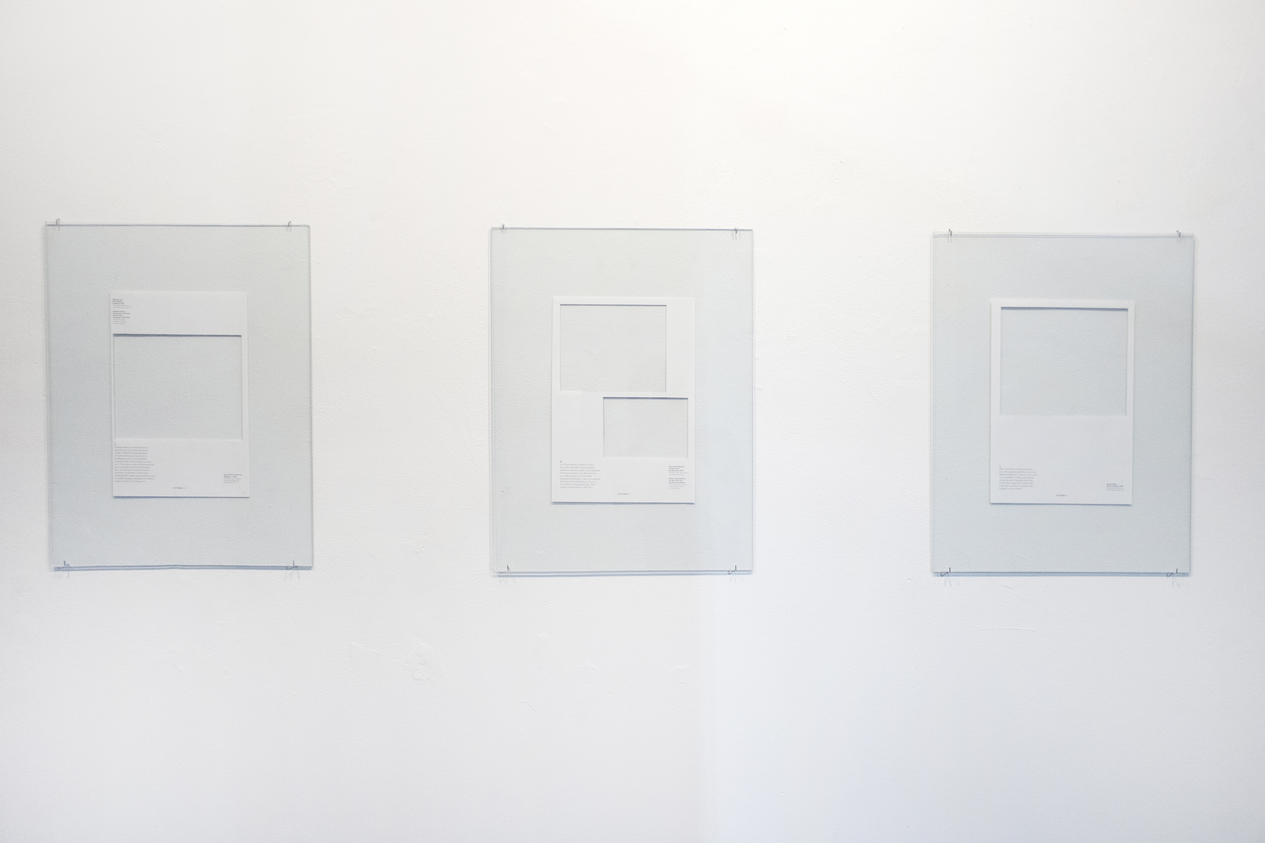 Some Guidelines To Making Photographs About Nothing, 2013