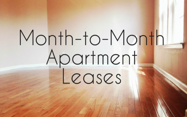 Month to Month apartment leases