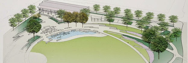 Rendering of First Ward Park by Diedra Laird