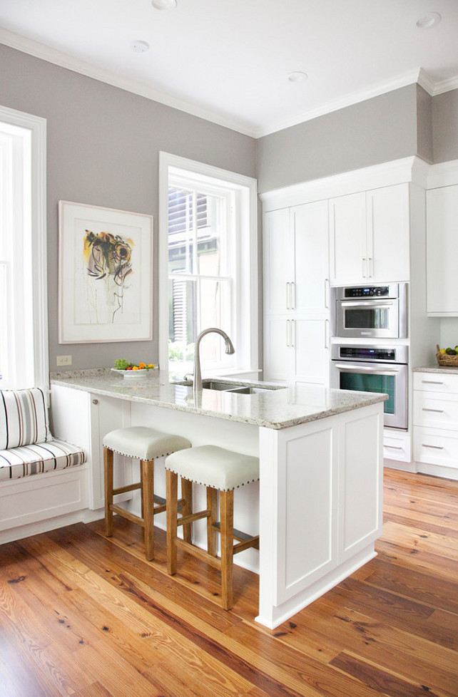 Instagram: @bethanymitchellhomes // From  HomeBunch  Sherwin Williams SW7023 Requisite Gray