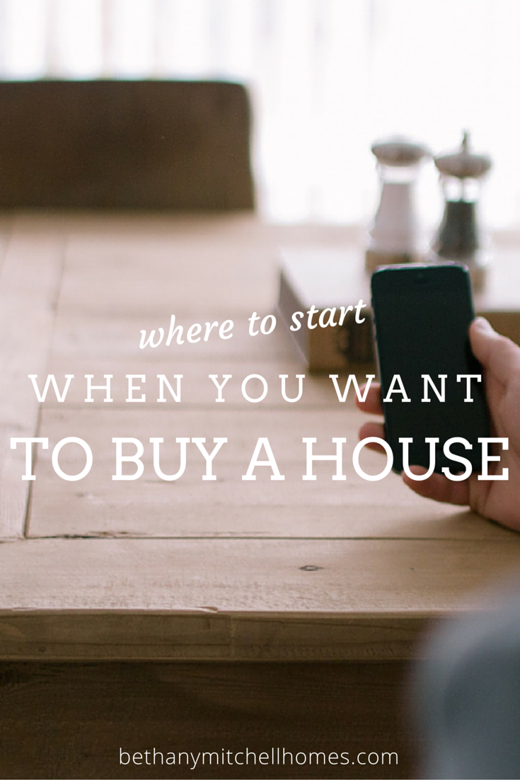 where to start when you want to buy a house