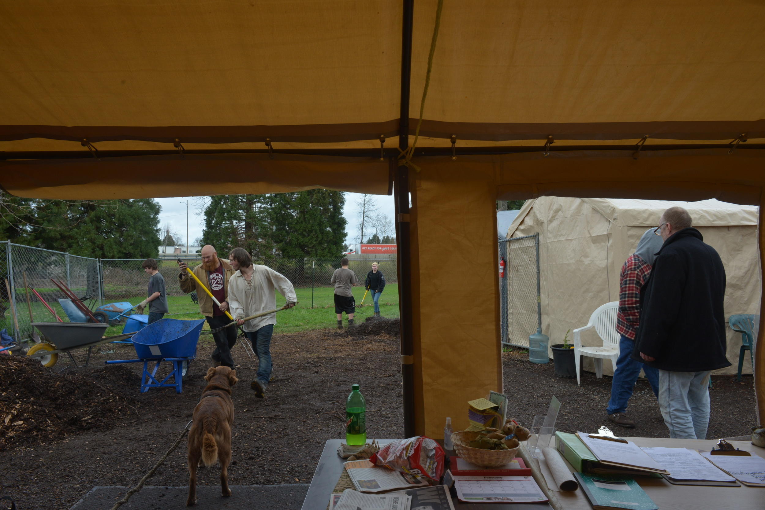 Eugene, Ore. - The Nightingale residents do community service with at-risk youth. By: Debra Josephson