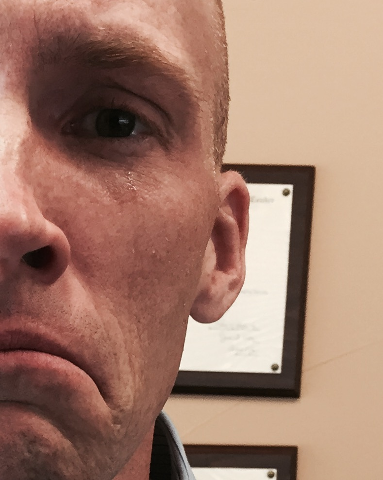 Notice the solitary tear running down Dr. Swapp's face. He's not a pretty crier, so please don't make him do it.