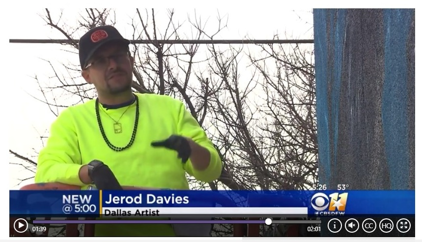 """CBS Dallas  """"Muralist on a Mission to Beautify Dallas"""" ."""