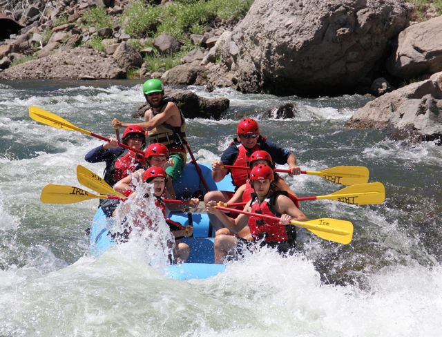 Entering Jaws Rapid on the Truckee River