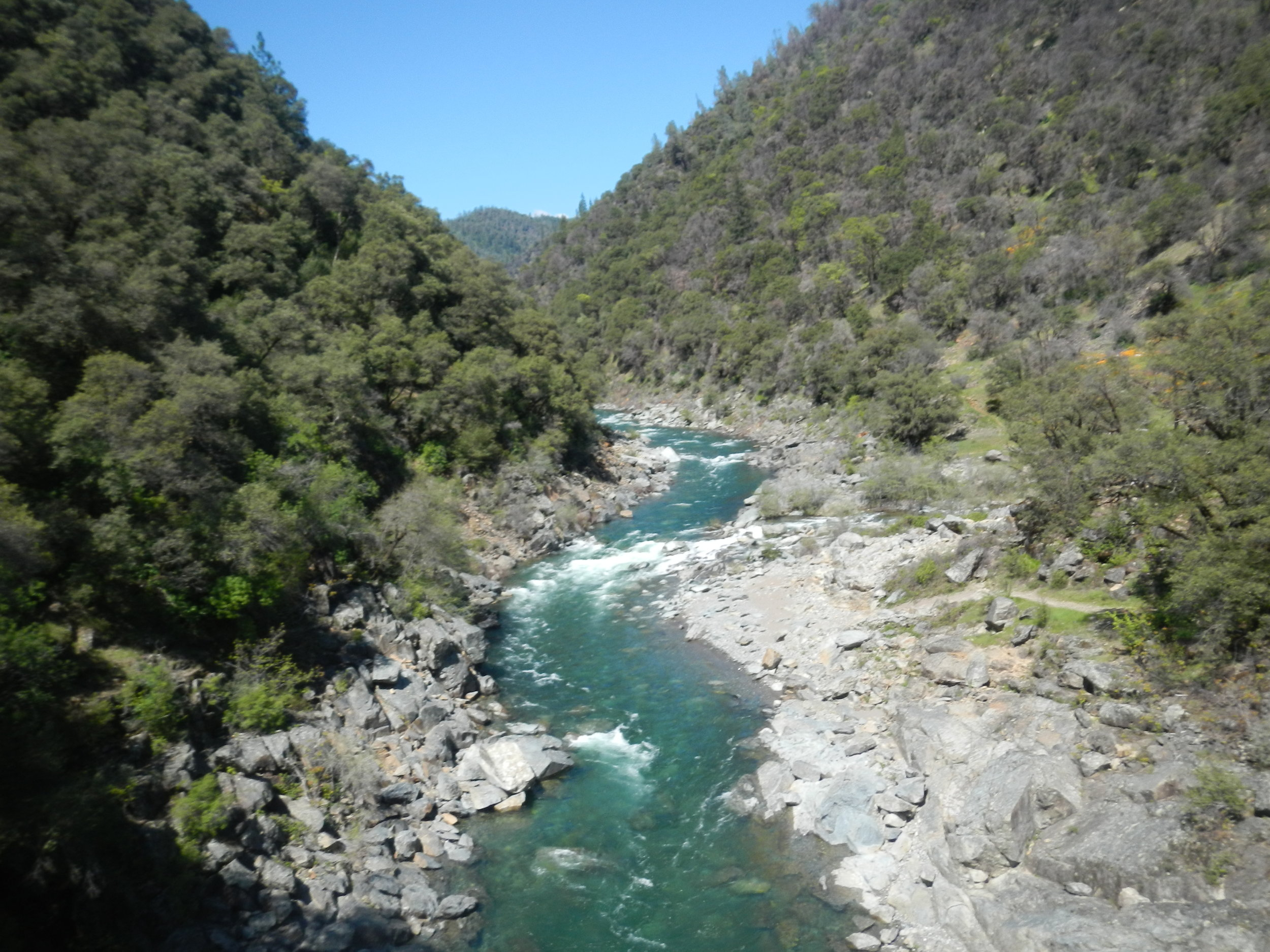 North Fork American River - Intermediate (class IV+) whitewater trips on one of California's most beautiful and exciting class IV Spring rivers.