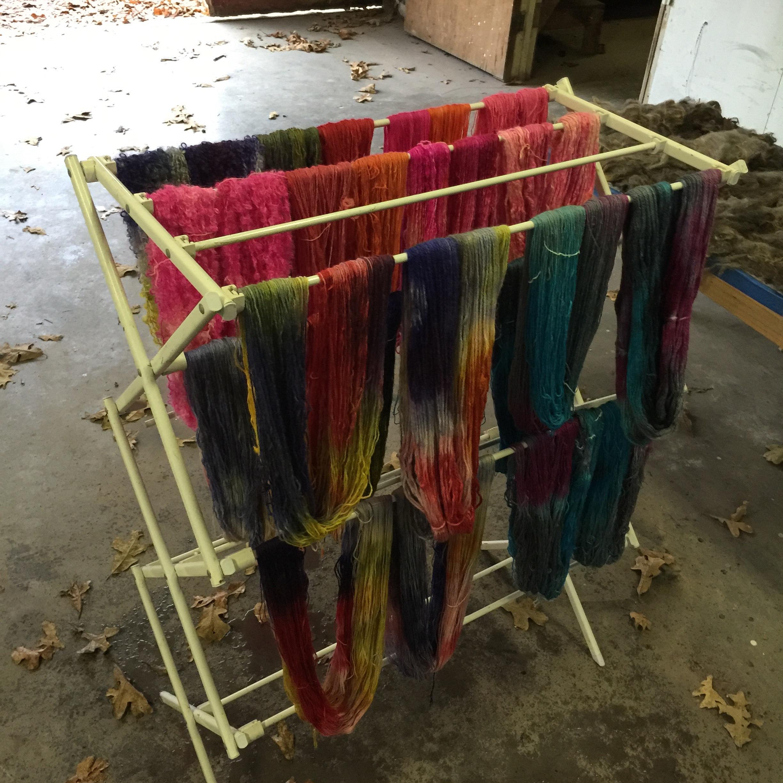 Drying yarns