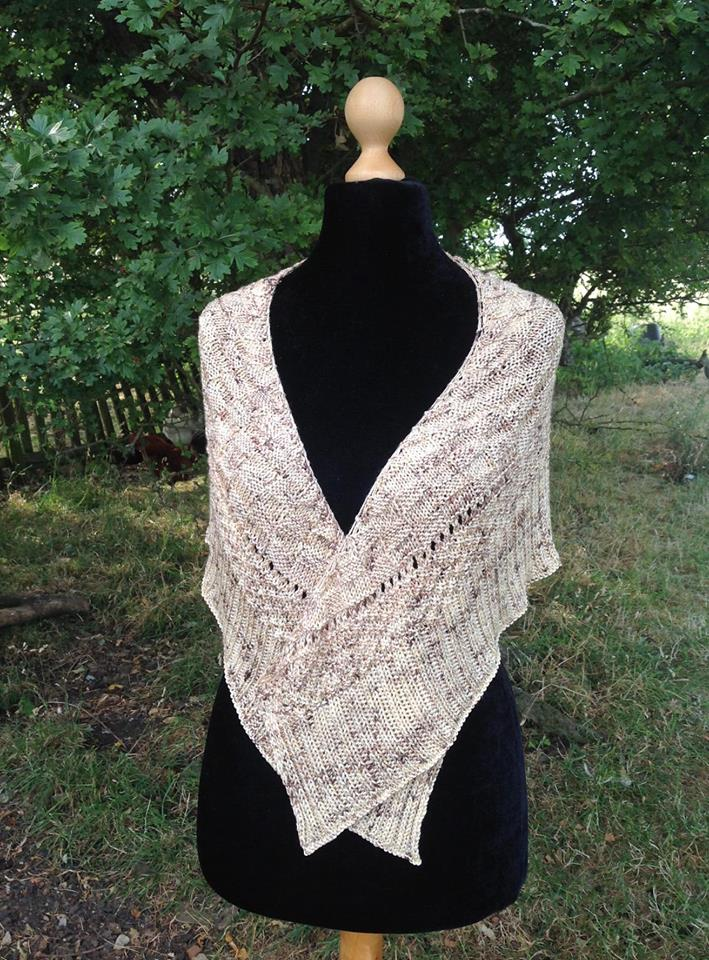 Artemis Shawl - This pattern was designed for the Fall 2018 Outlander KAL/CAL. The pattern is now available. Requirements:492 yards of DK weight**Please pay attention to the length of your selected yarn as different bases vary in length**As shown: Roger Mackenzie on Silky DKFor custom colors/bases click HERE