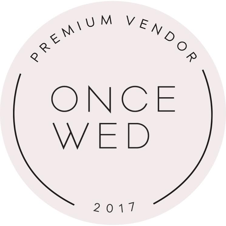 As featured on Once Wed