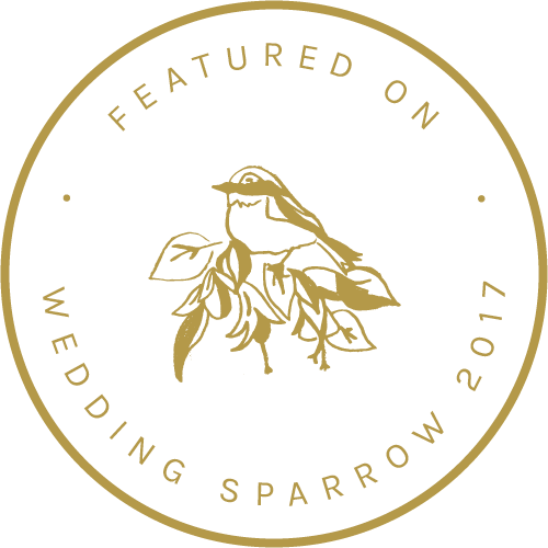 As featured on Wedding Sparrow