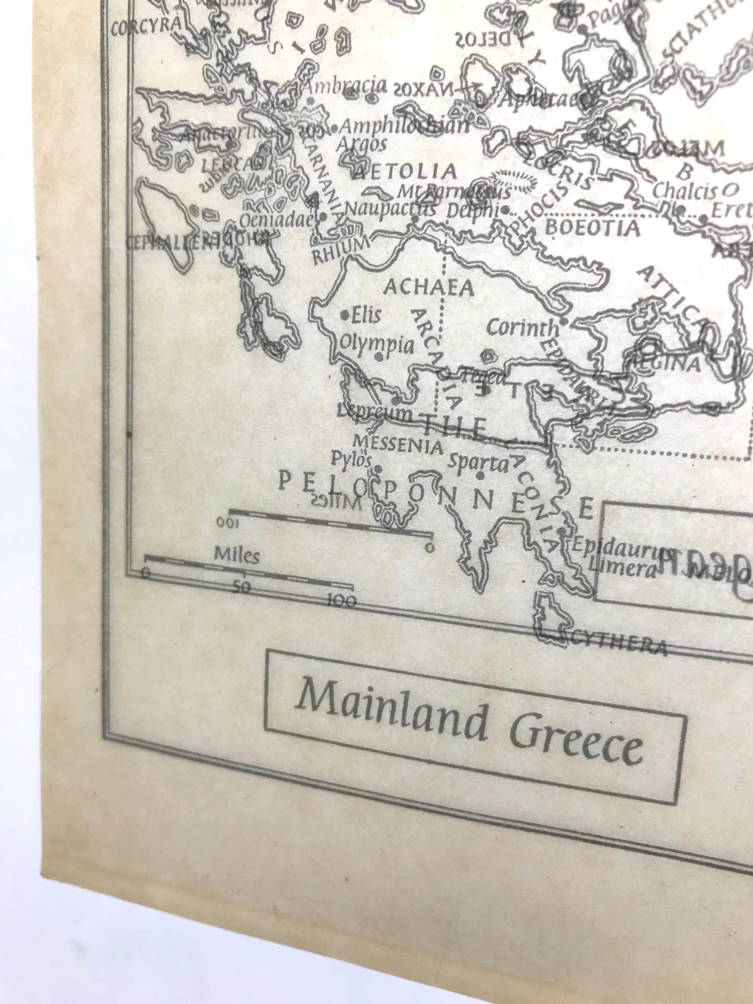 Map I - The Aegean (detail).