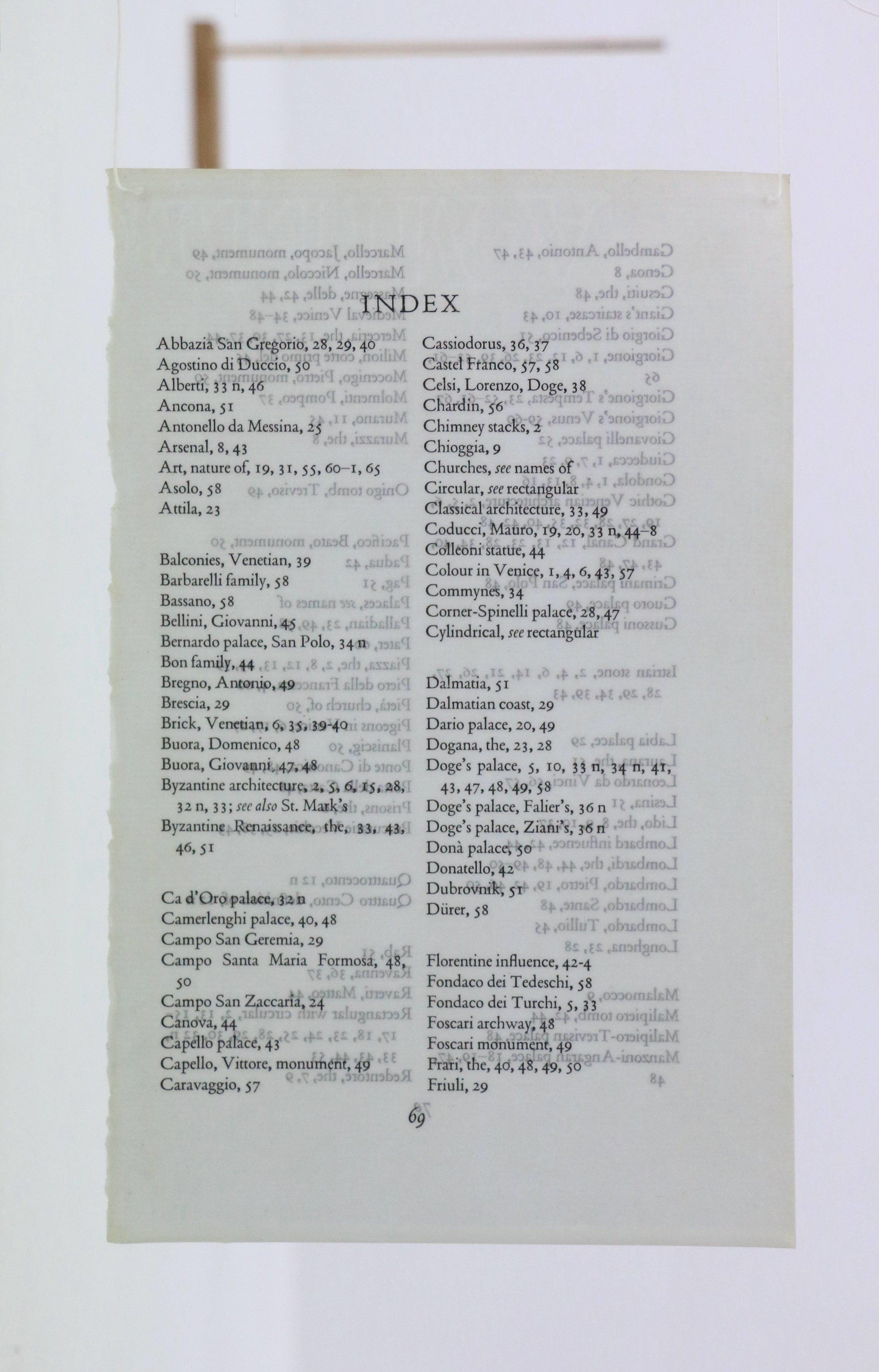 Index III - Venice (detail).