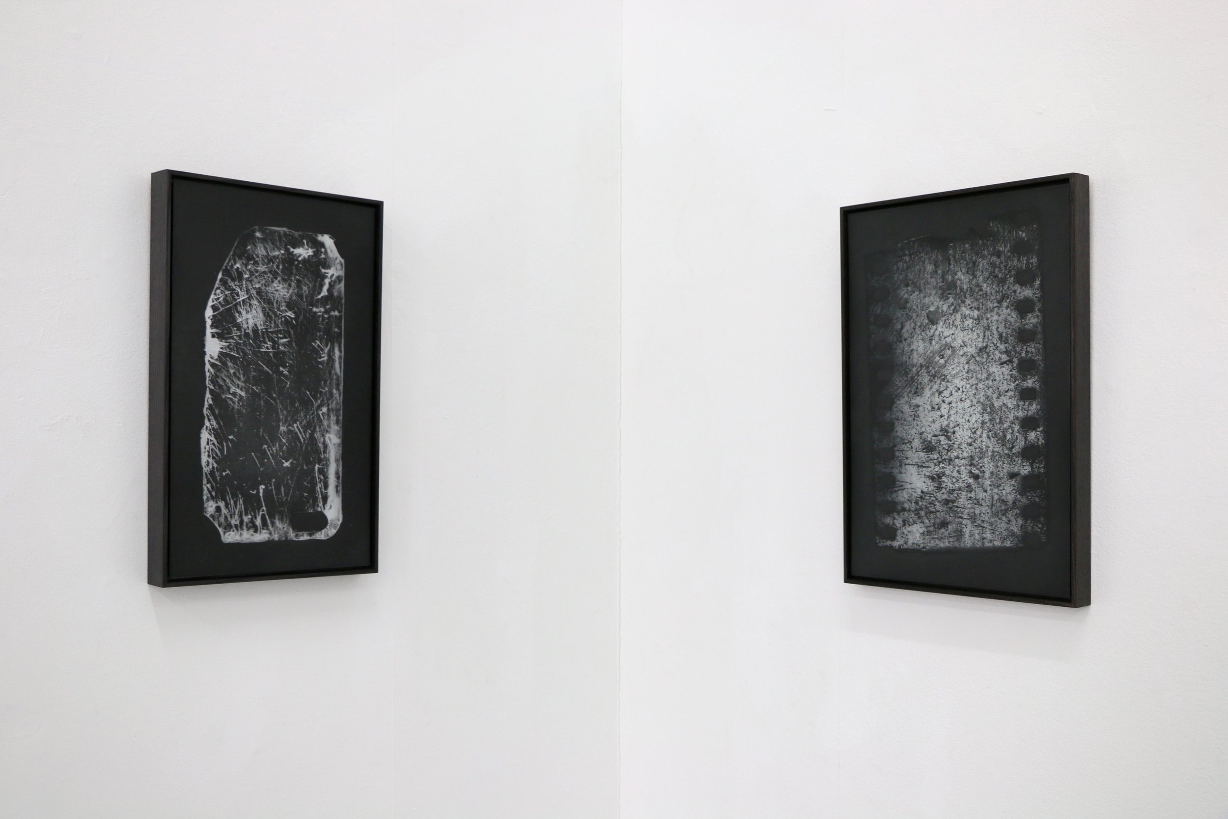 Installation view: iProtection (left); Mirror 35mm (right).