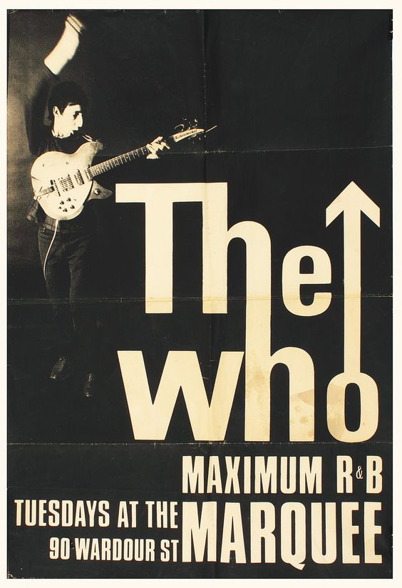 The Who Original Marquee Concert Poster Hung At Club