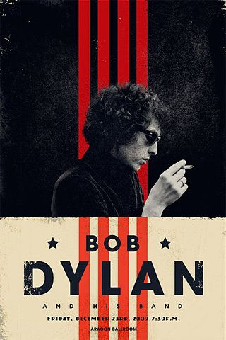 Bob Dylan poster series curated by Alex Girón