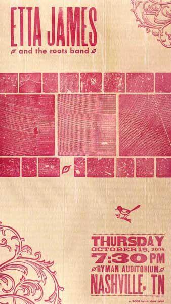 Etta James by Hatch Show Print