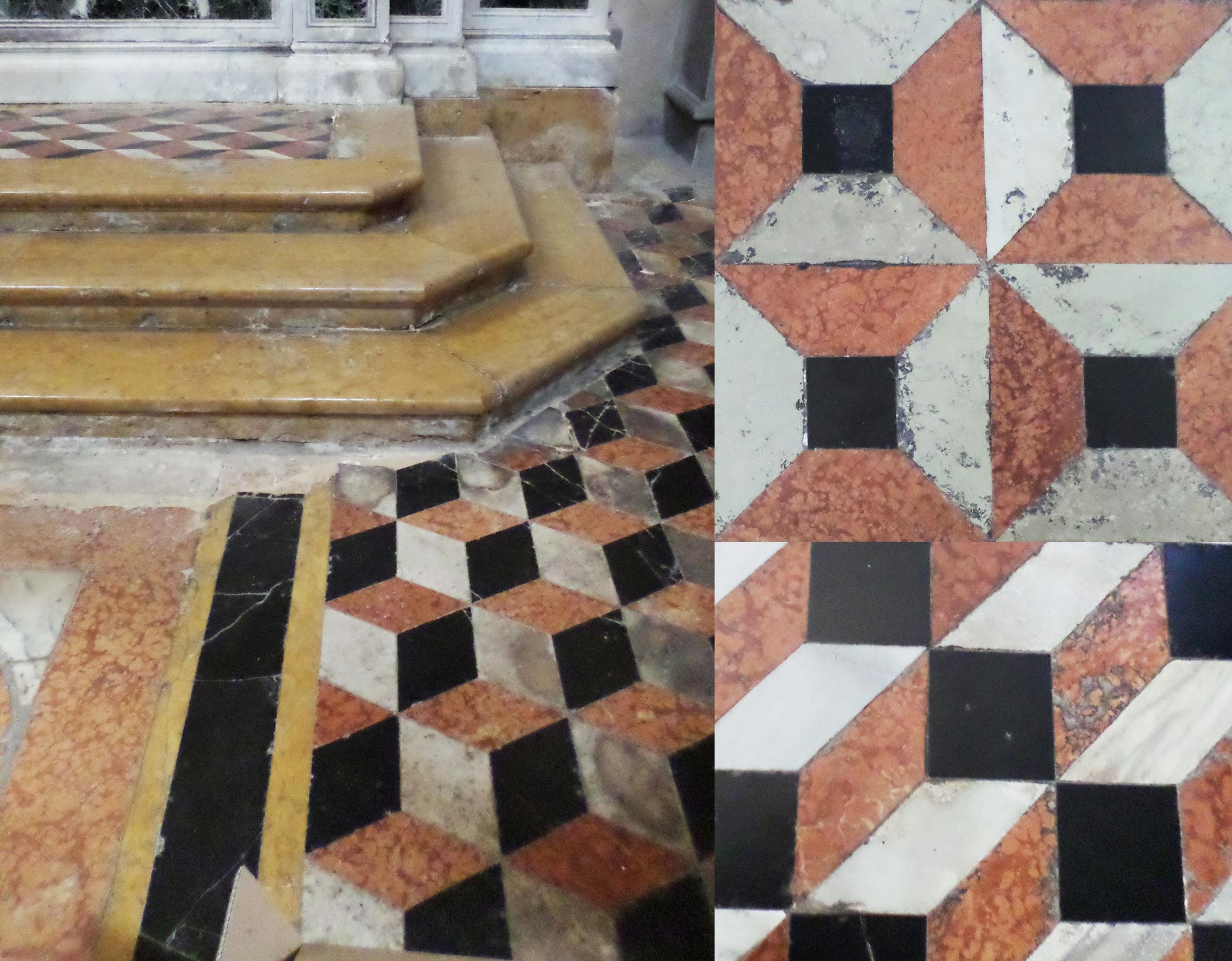 marble floors in Venetian churches