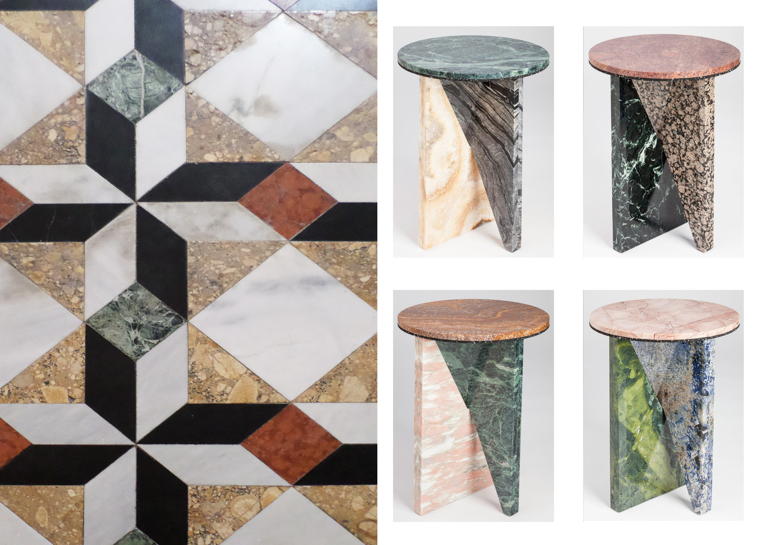 Marble floor in Venice - flat-pack marble tables by  Jonathan Zawada