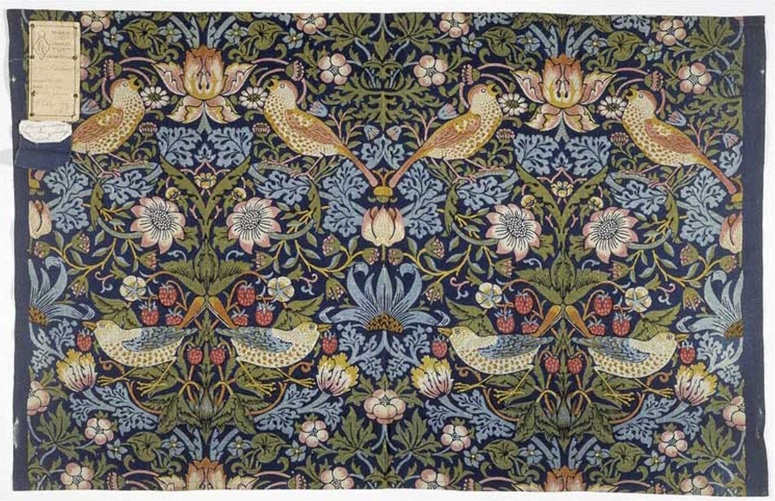 William Morris - Strawberry Thief - fabric designed in 1883
