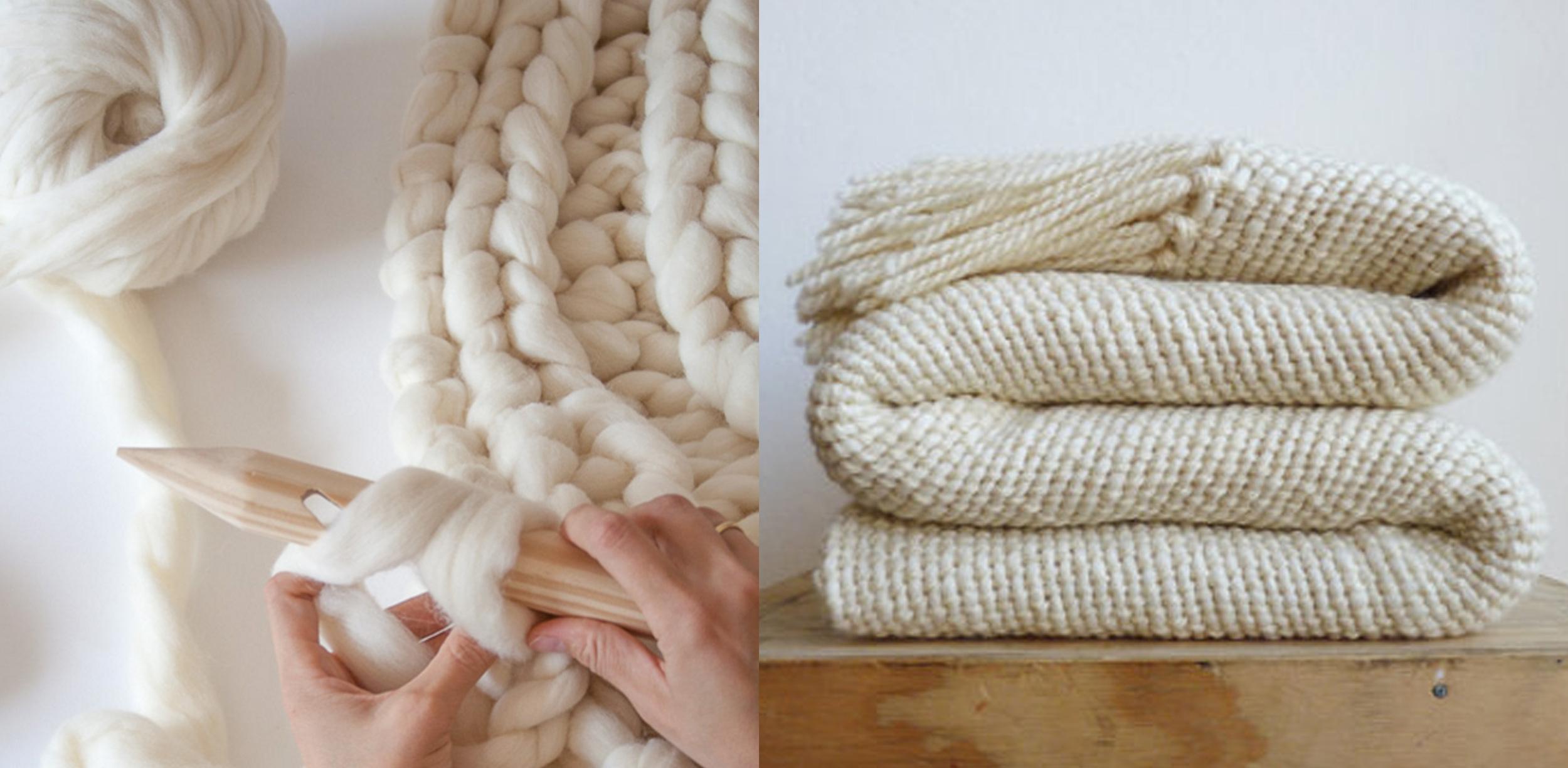 Knitting Noodles  - woven blanket  Texturable Decor
