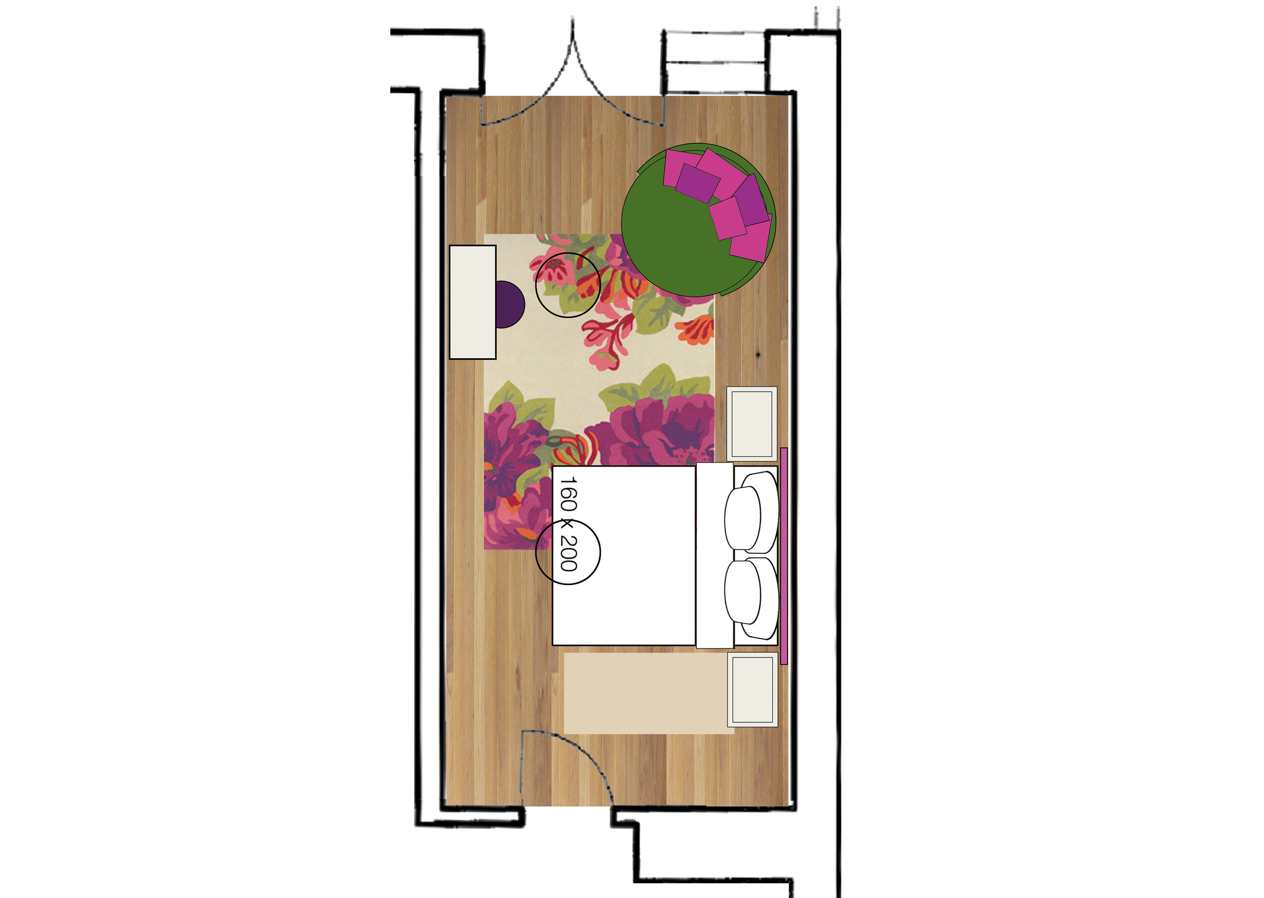 lay-out bedroom