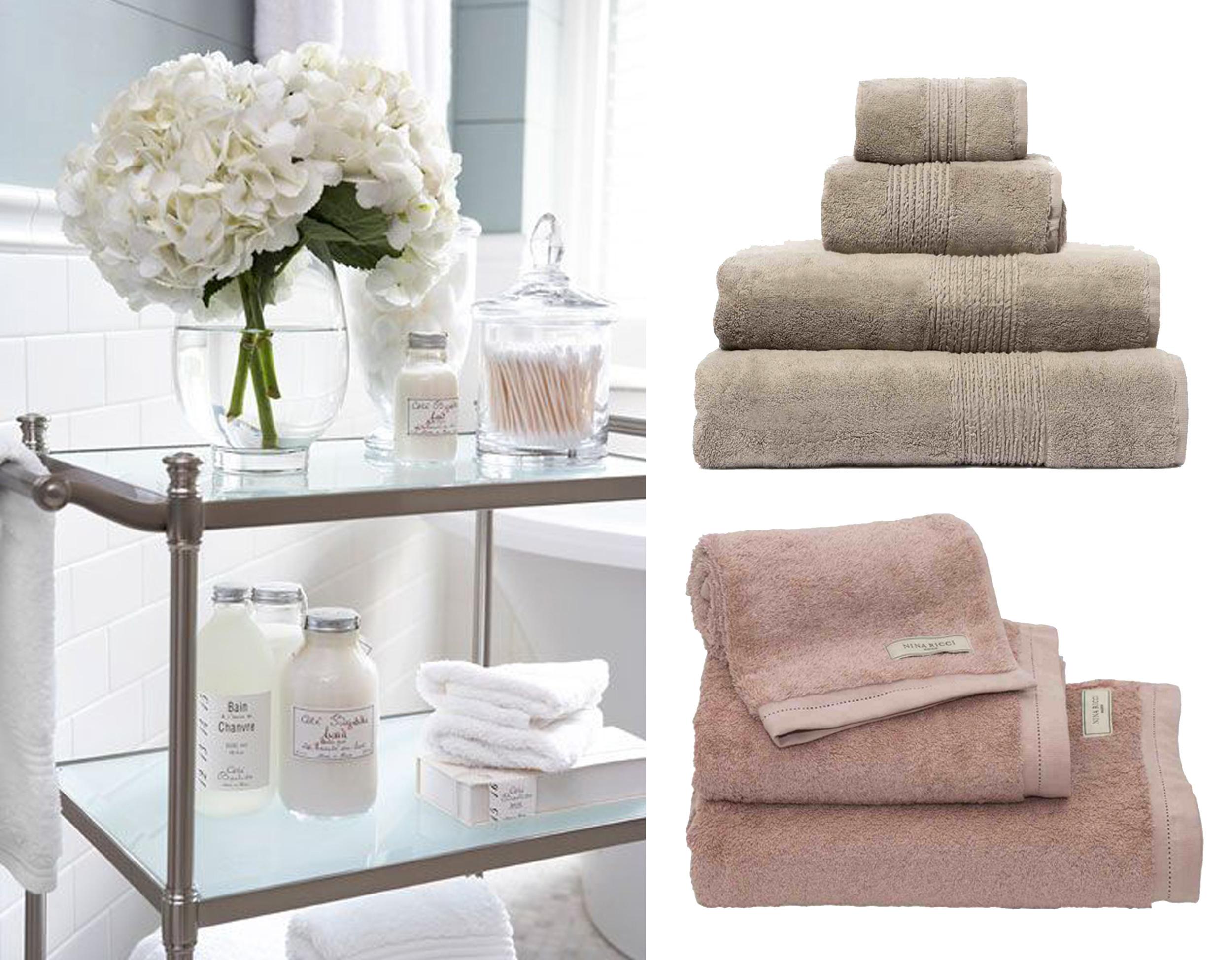 image Pinterest - towels Hamam and Nina Ricci  A La Maison