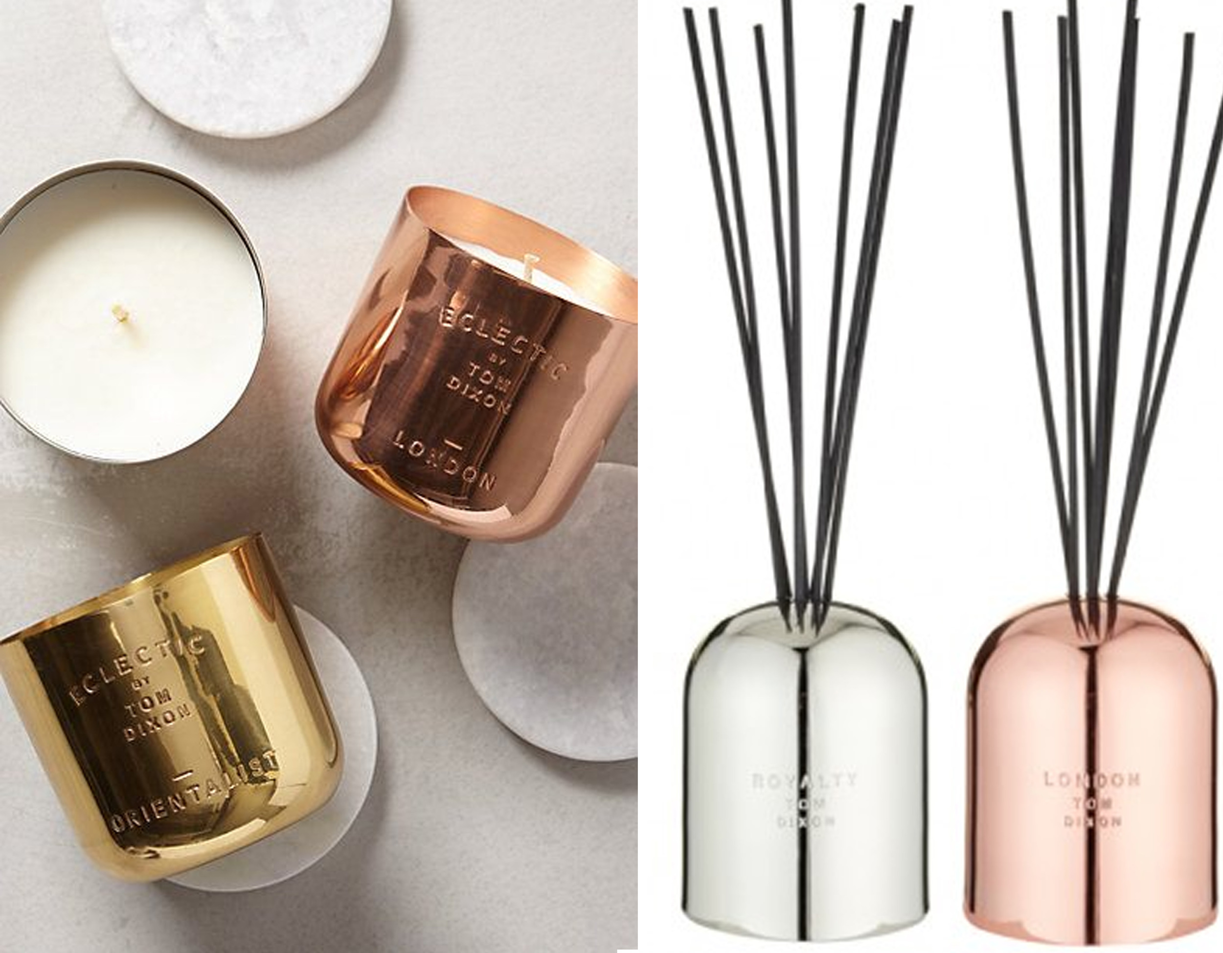 scented candles and scent diffuser  Tom Dixon