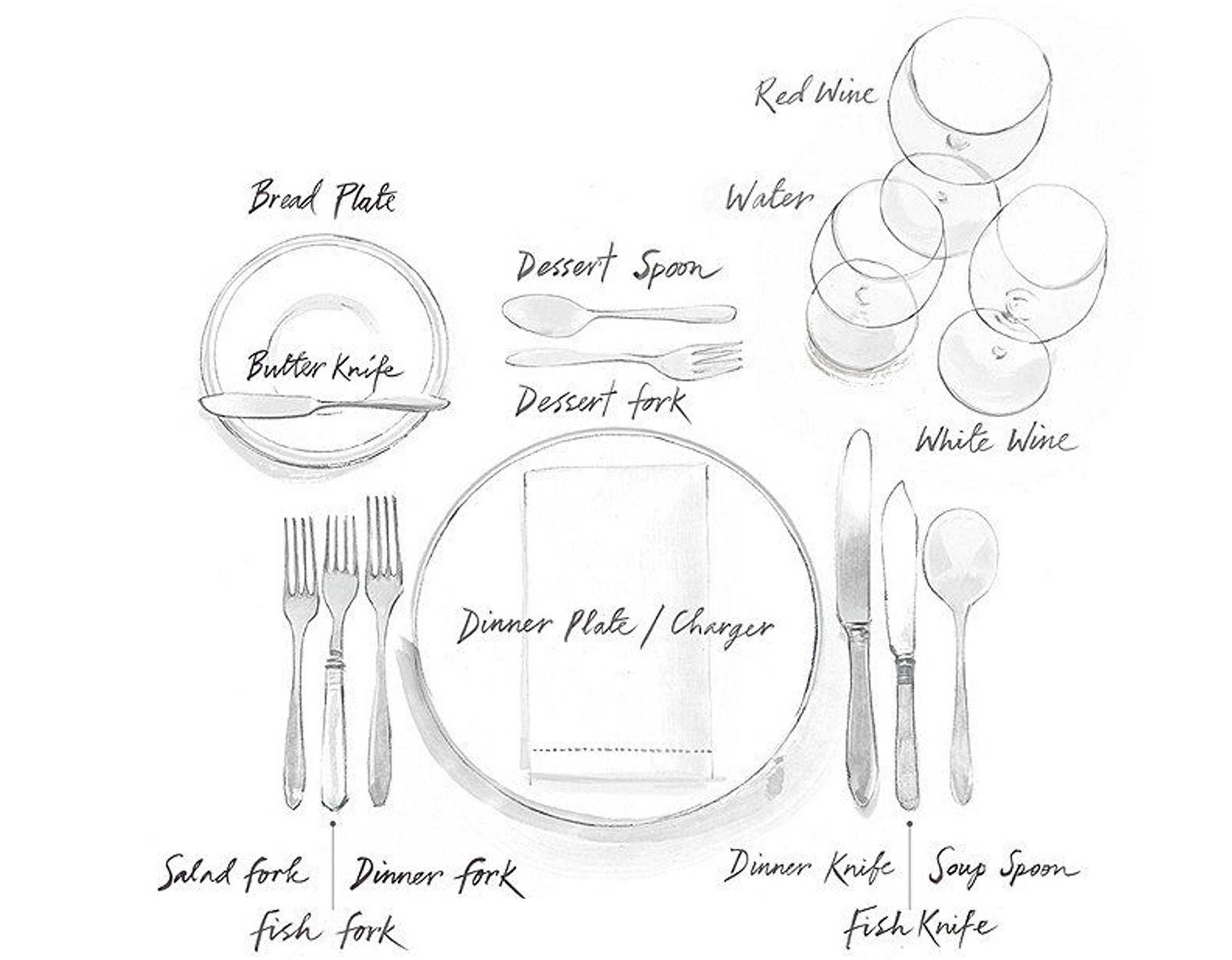 formal table setting via  One Kings Lane