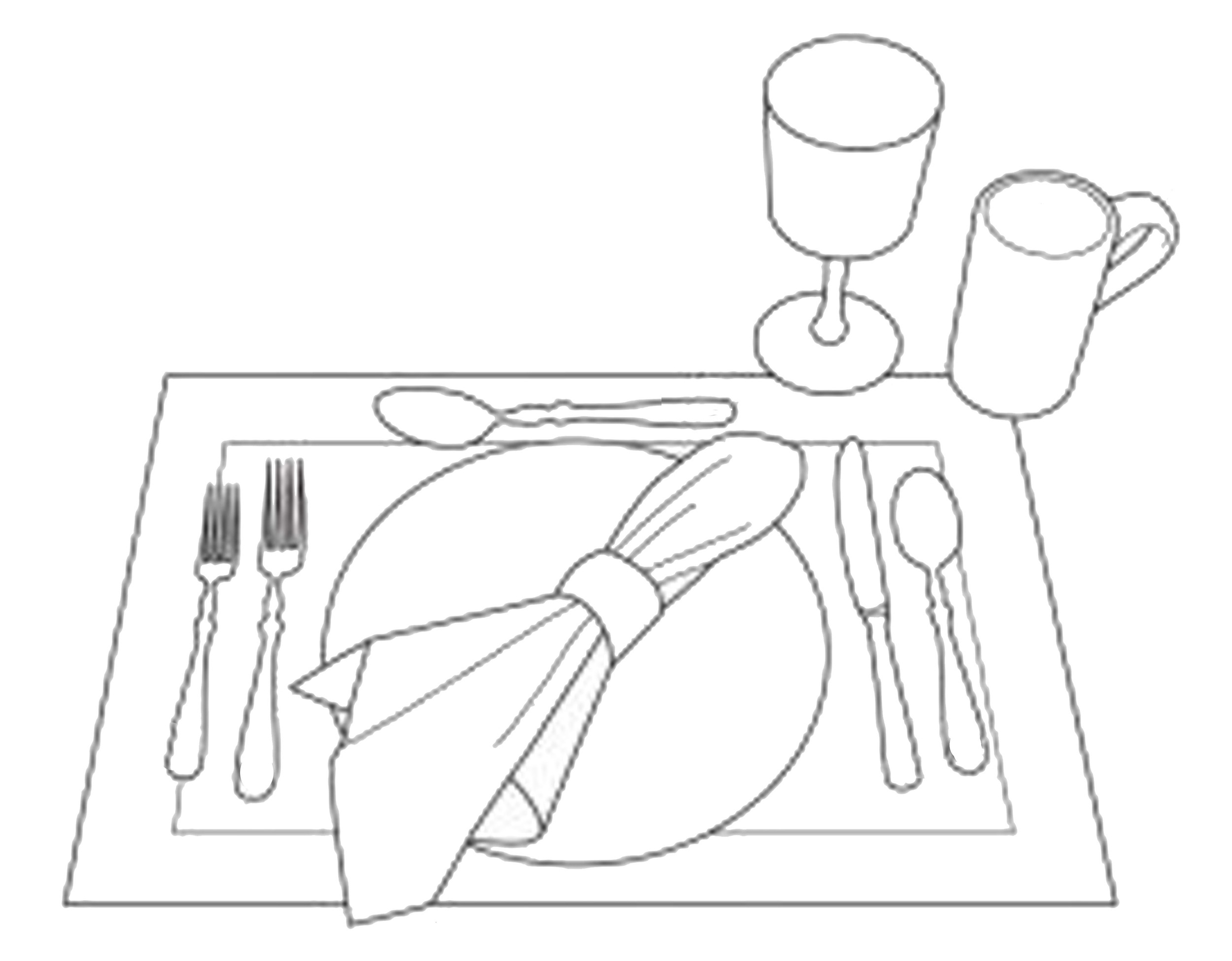 casual lunch table setting via  Aylee.Bits