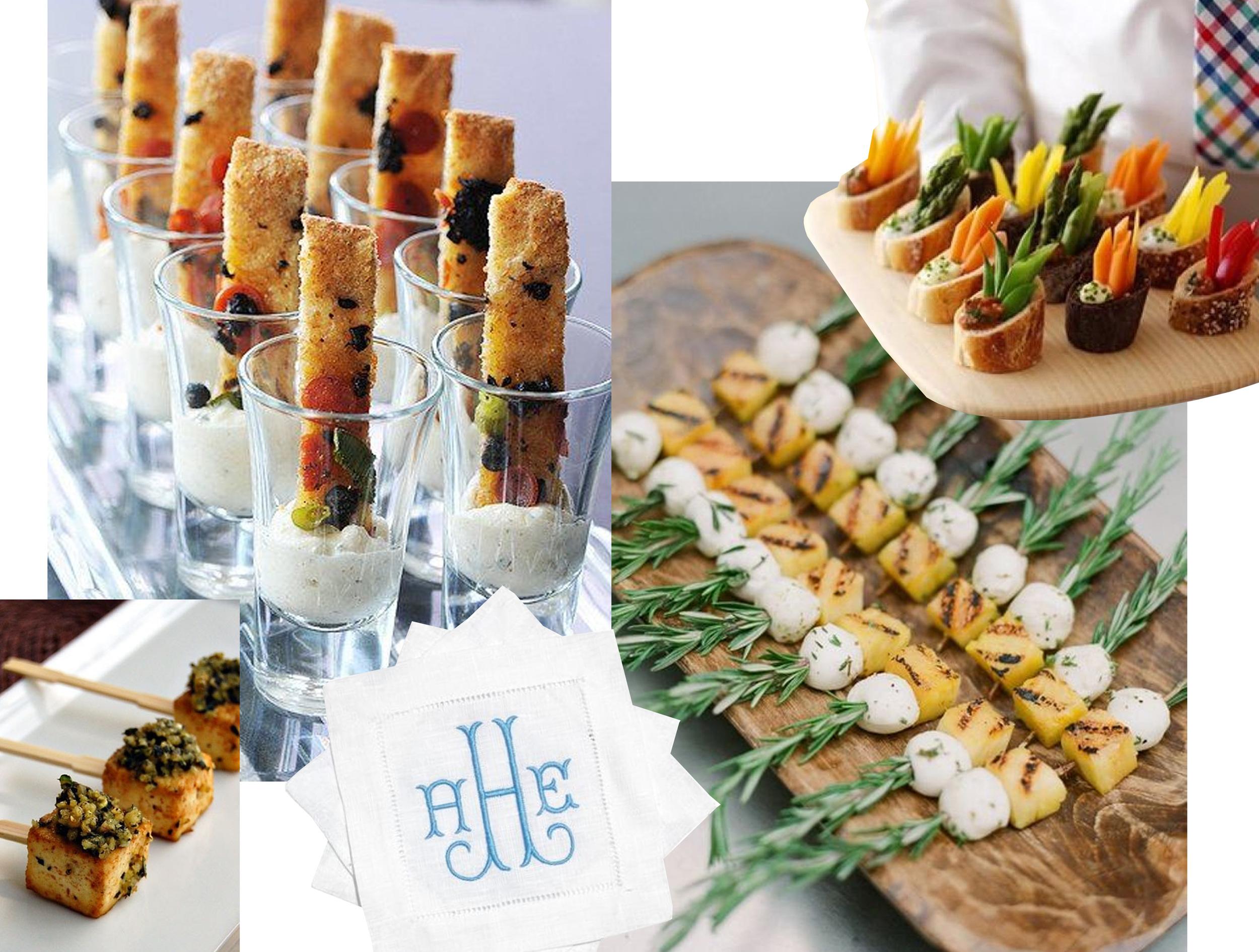 fingerfood  Pinterest  - monogrammed cocktail napkins  Design Darling