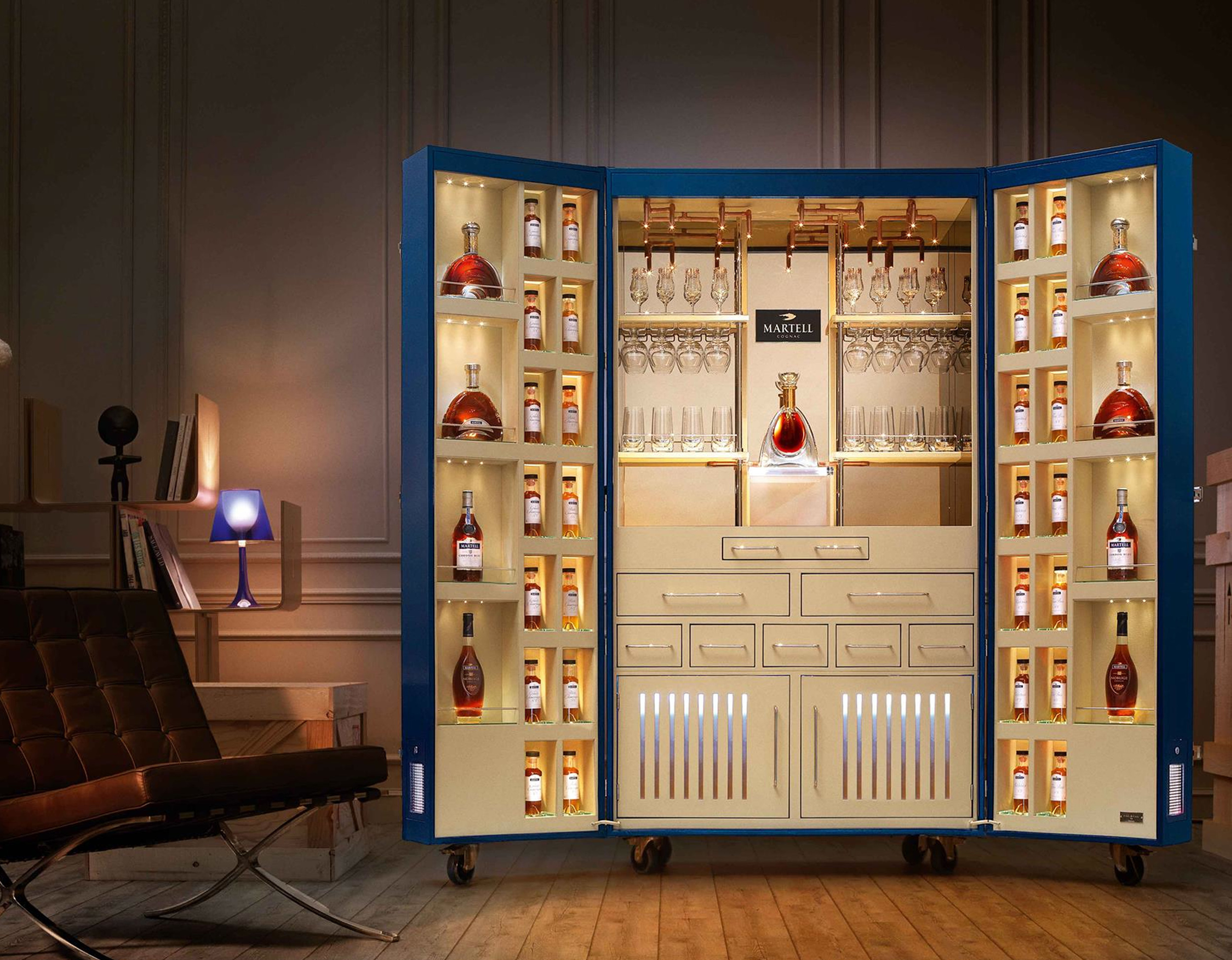 discover the beauty inside of the Martell trunk by  Pinel & Pinel