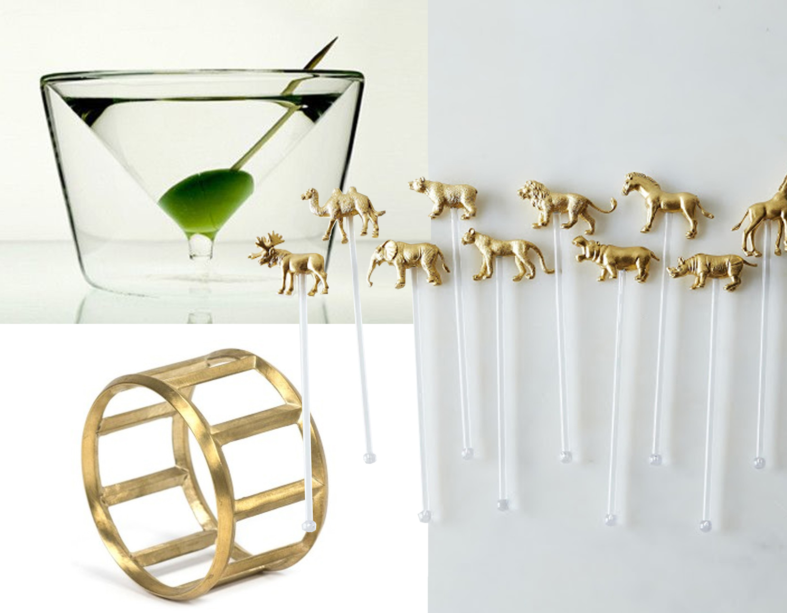 Inside-Out Martini glass  by AMT  - Roll Bottle opener  Dwell  - stirrers  Food 52