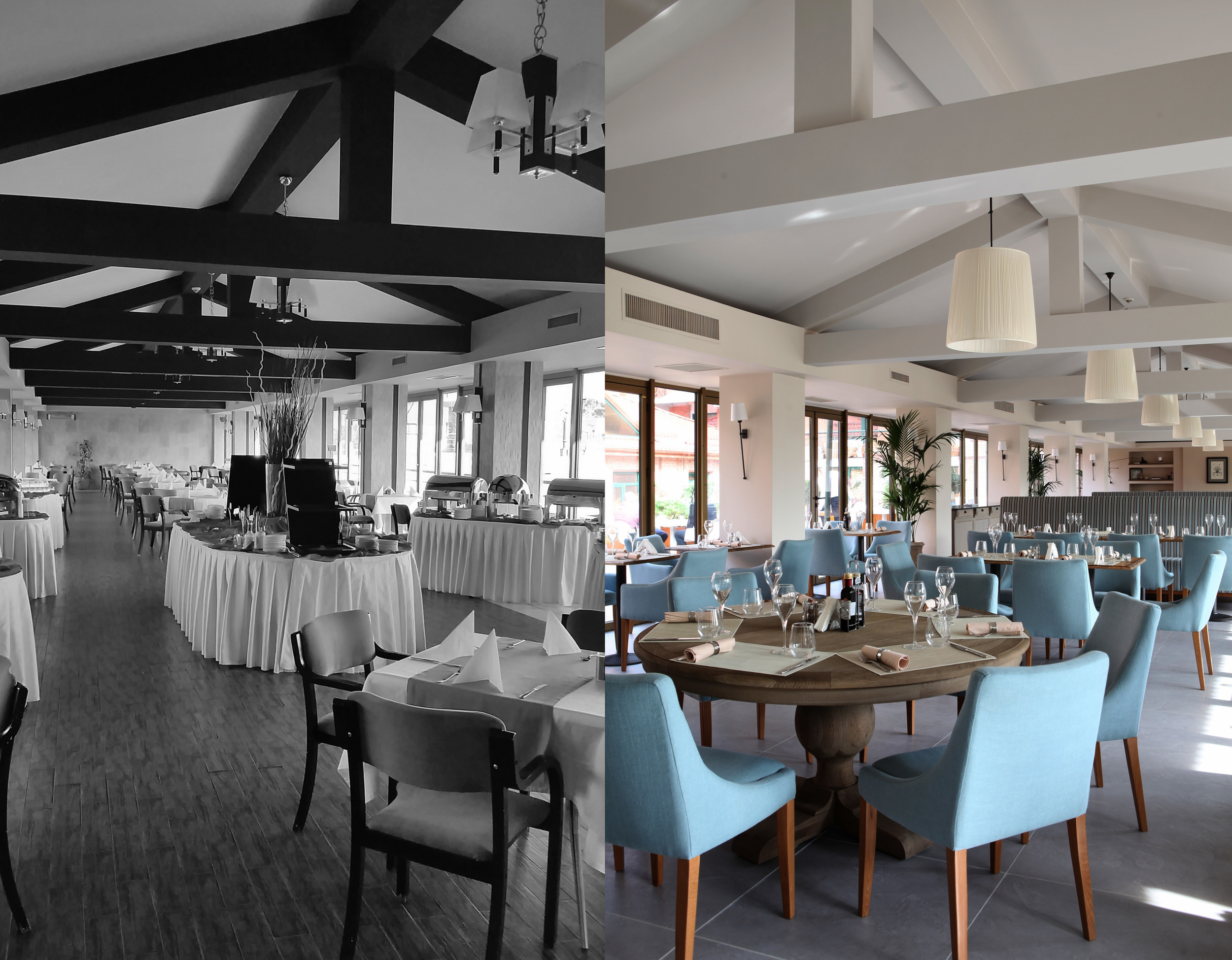 before - after picture Sorin Iacob for  Casa Lux