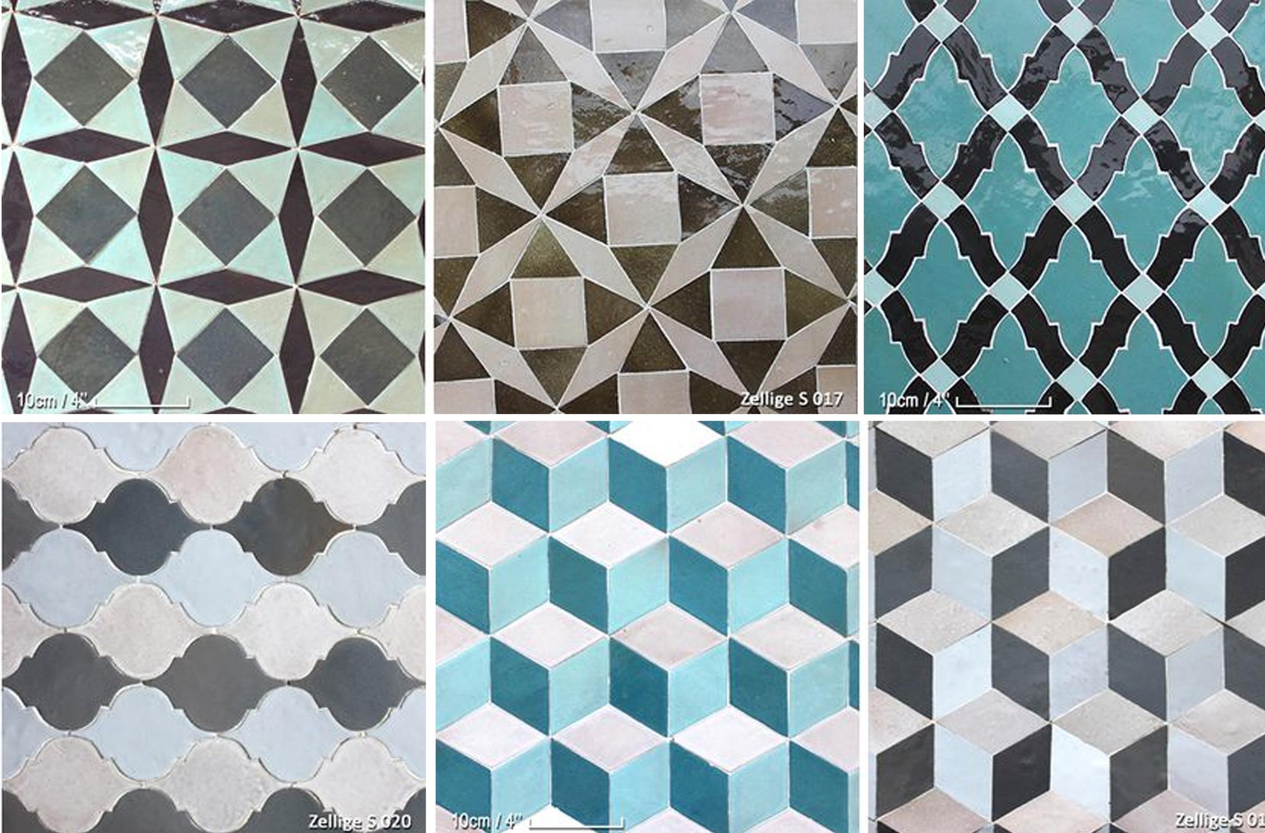 zellige shapes and designs