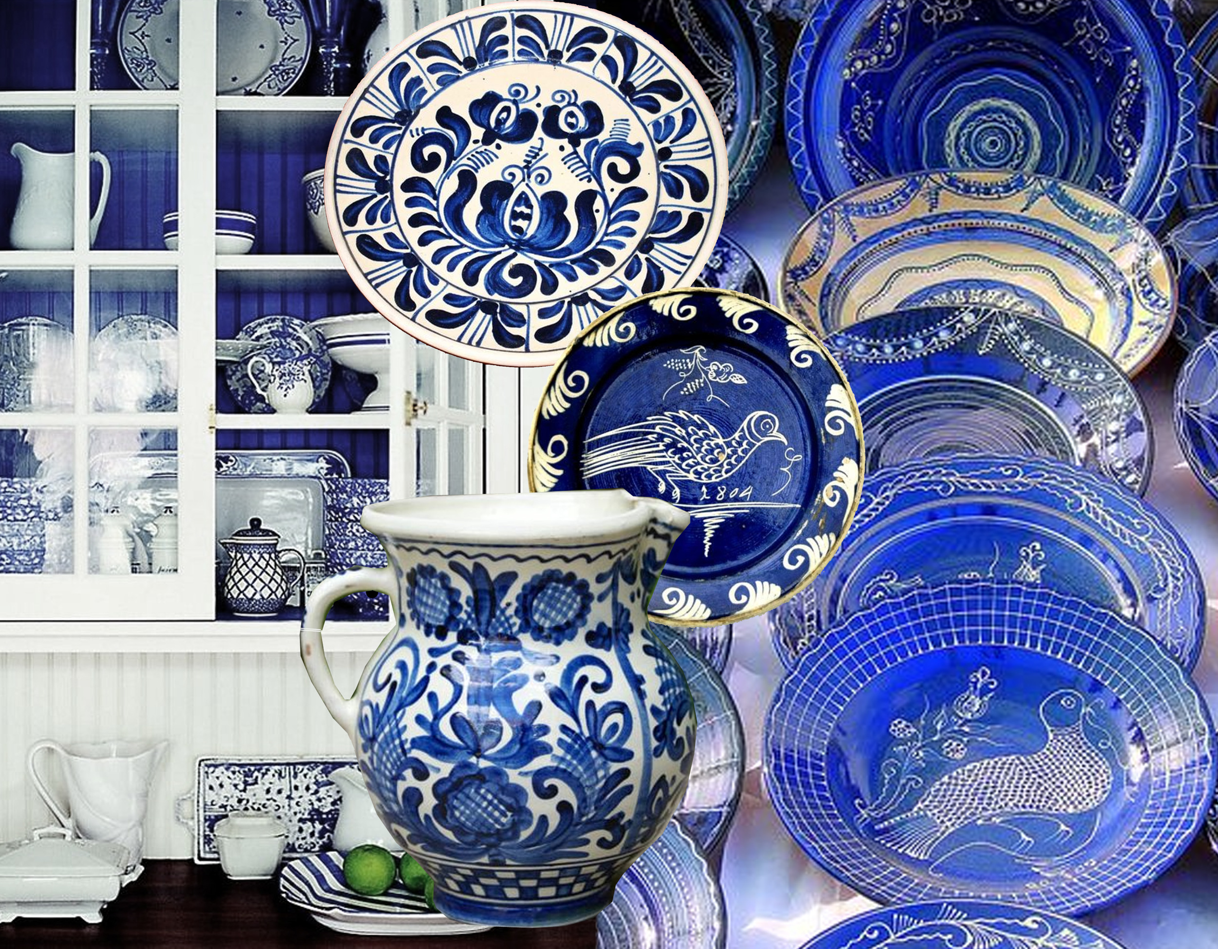 icture painted kitchen cabinet  One Kings Lane  - traditional Romanian ceramics on  Pinterest