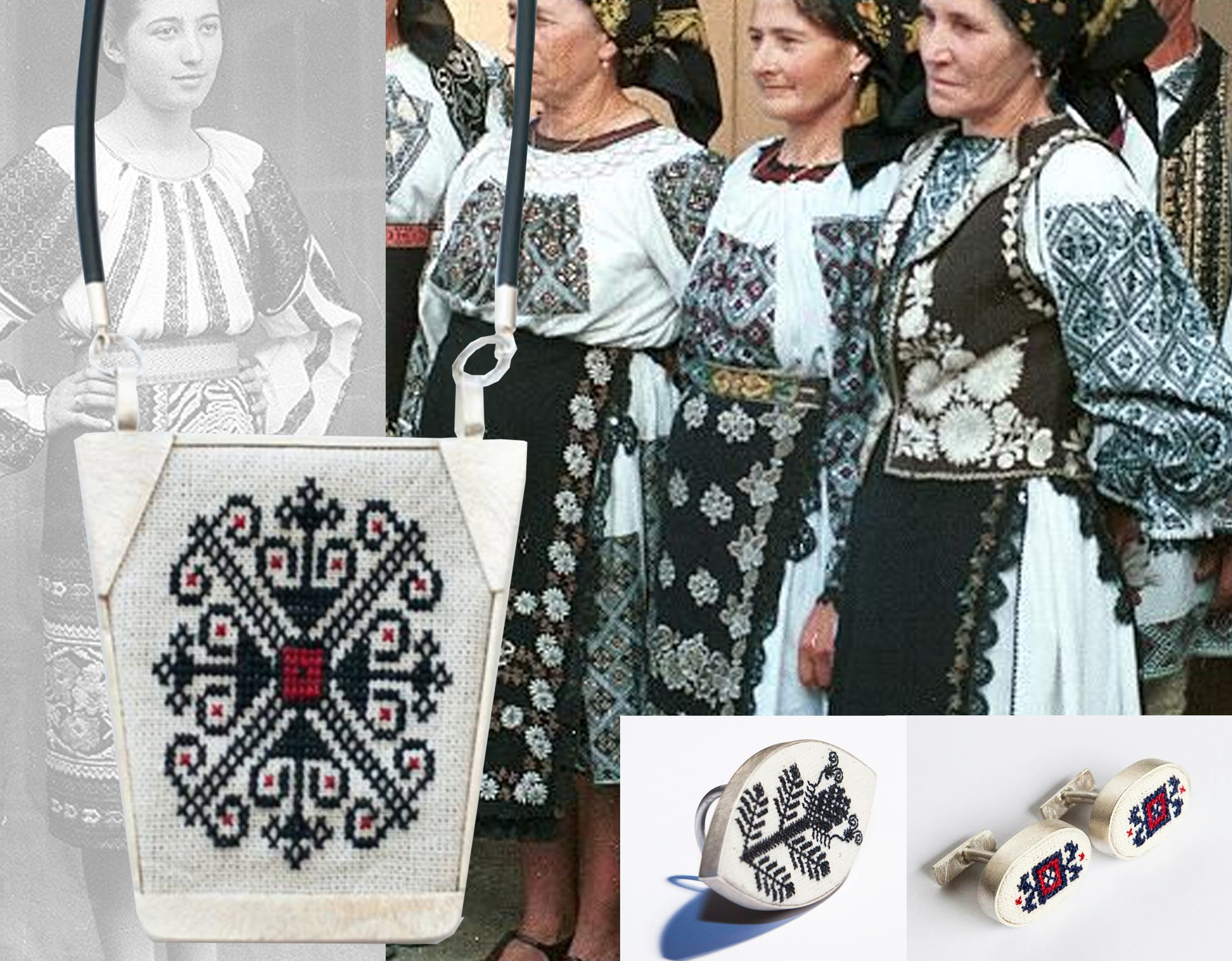 jewellery  Mihaeala Ivana  -woman in traditional dress found on  Pinterest  - women in traditional dresses from Transylvania on  Pinterest