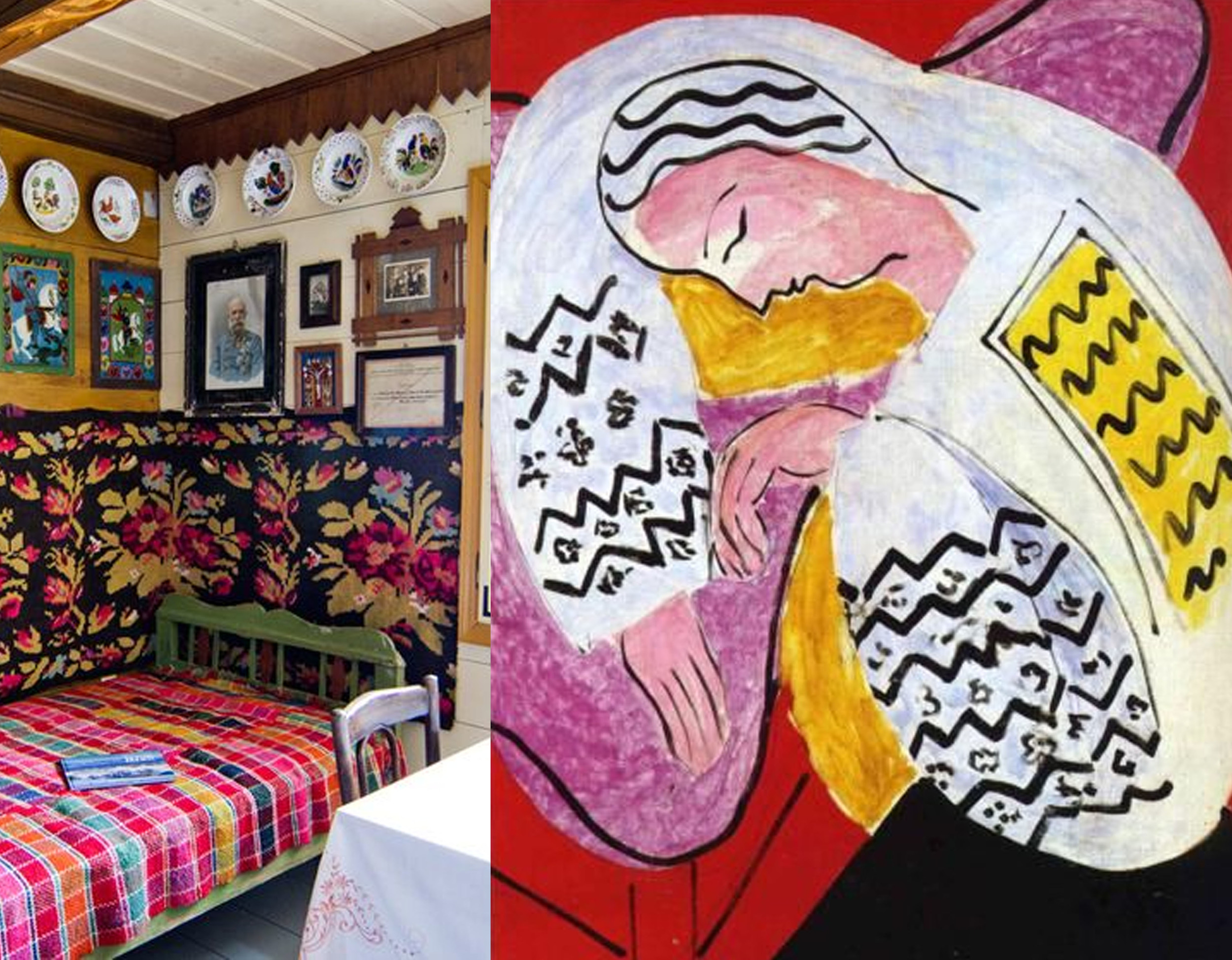traditional Romanian interior - painting Matisse