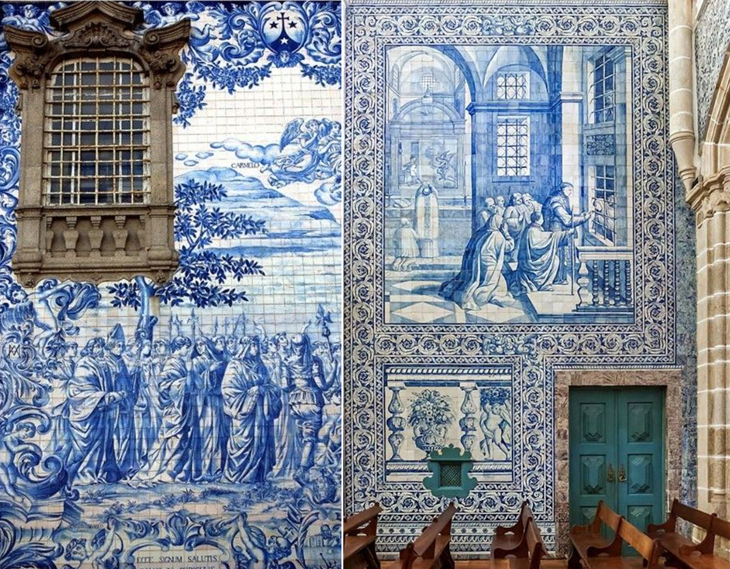 Azulejos on exterior and used to cover the walls inside Portugal - found on  Pinterest