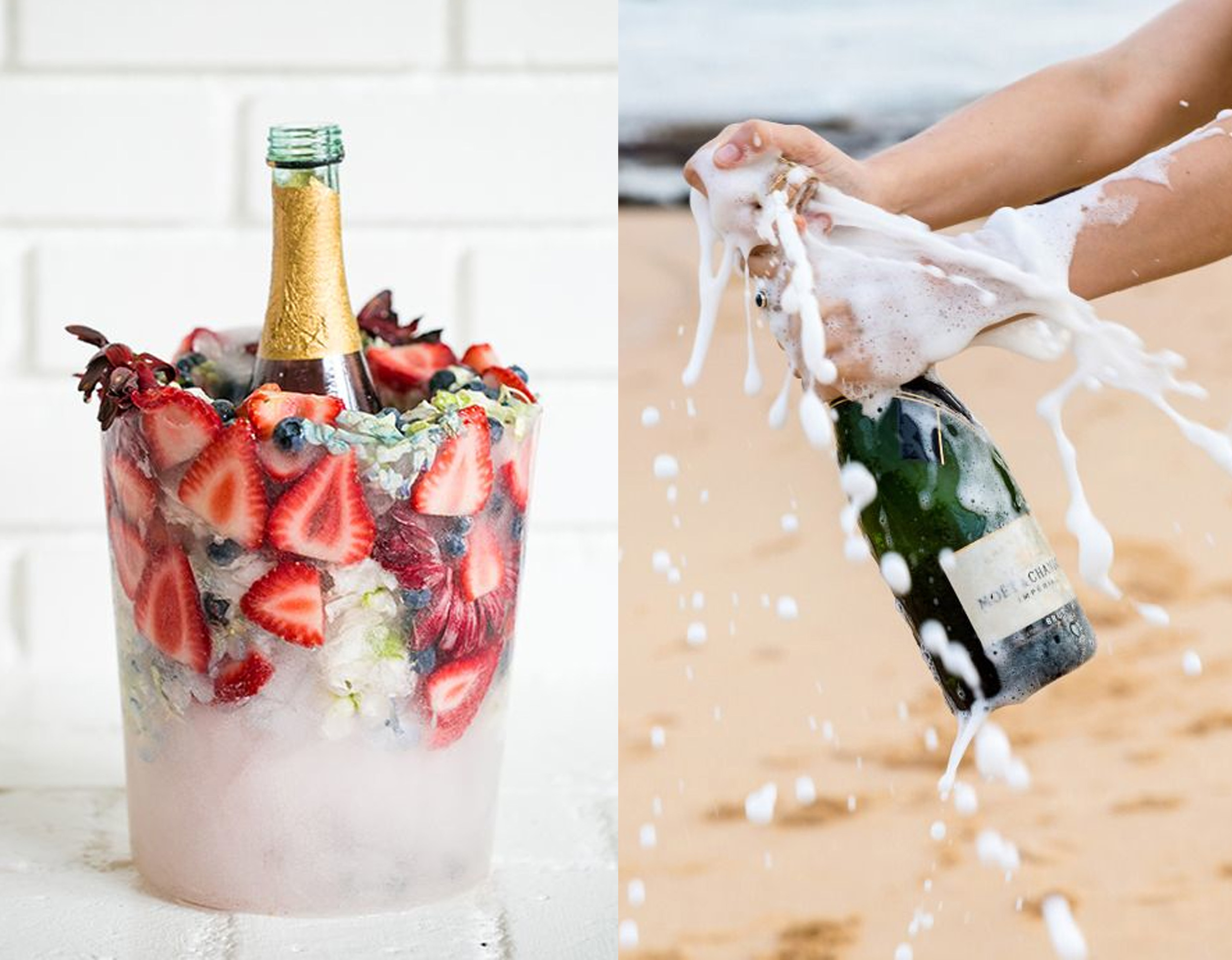 DIY ice bucket  Sugar and Charm  - Champagne bottle on  Pinterest