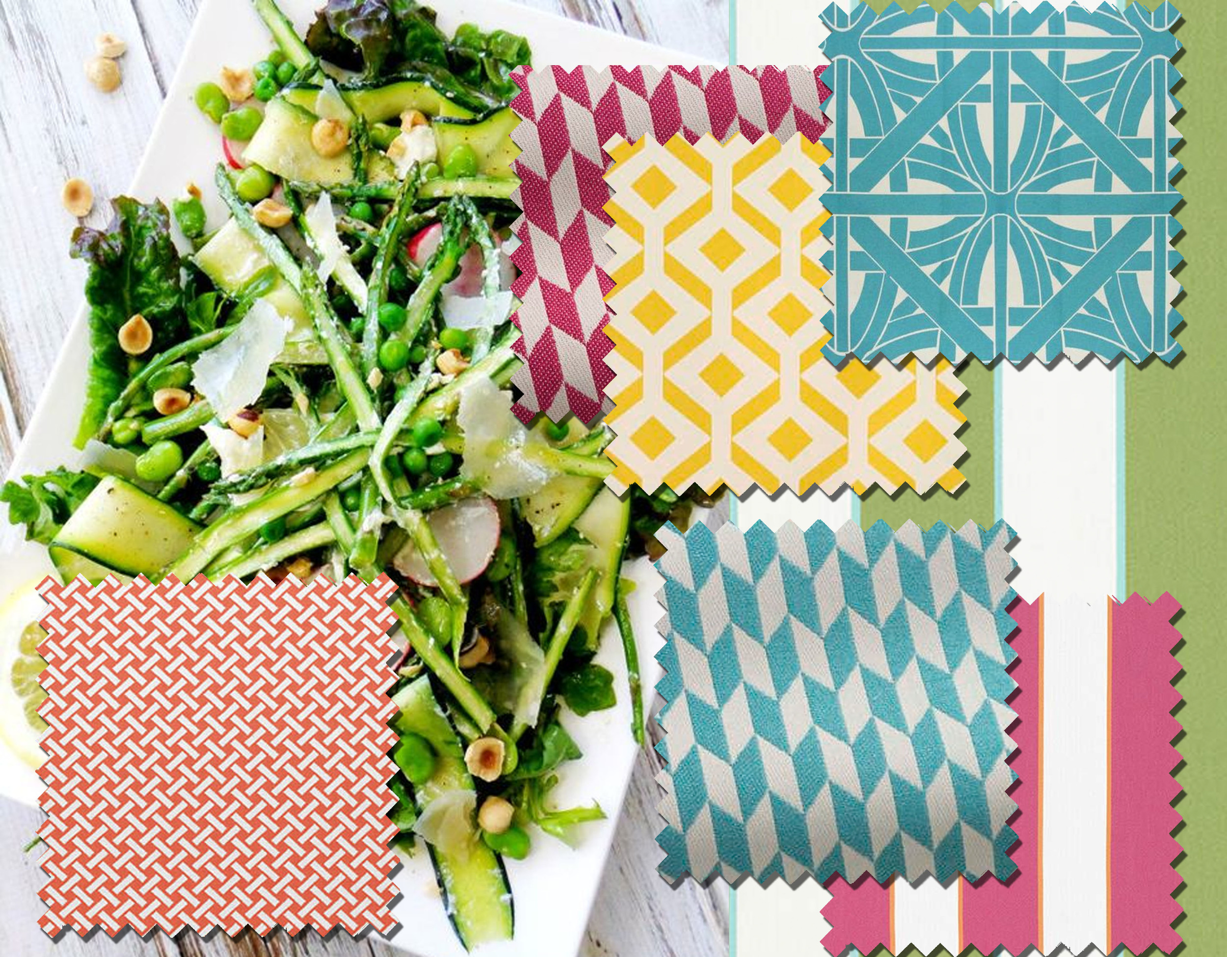 salad  Proud Italian Cook  - fabrics  Pierre Frey  and  Thibaut
