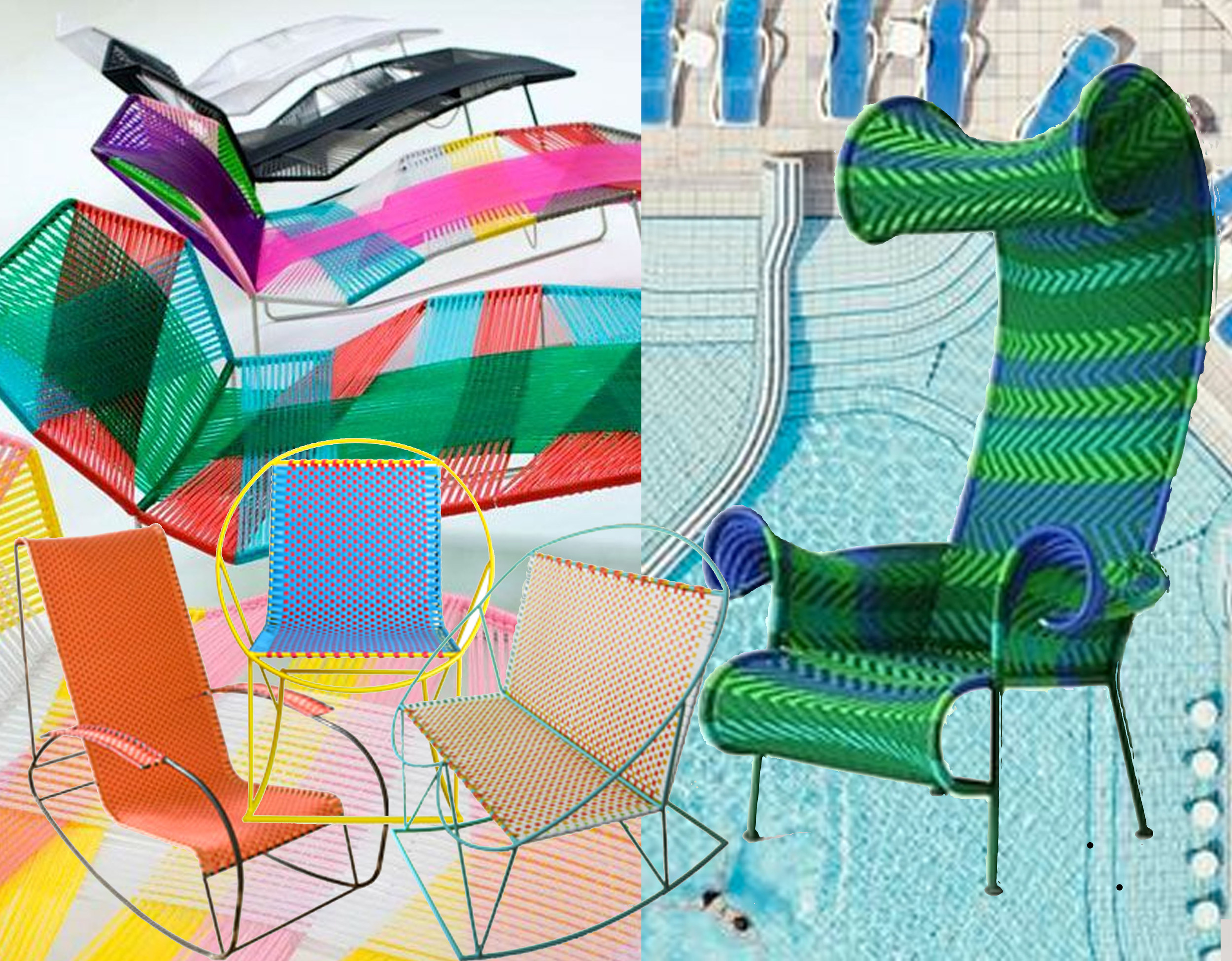 Tropicalia by Patricia Urquiola via  blog-Esprit design  - outdoor chairs  Mecedorama  - Shadowy by Tord Boontje  Moroso
