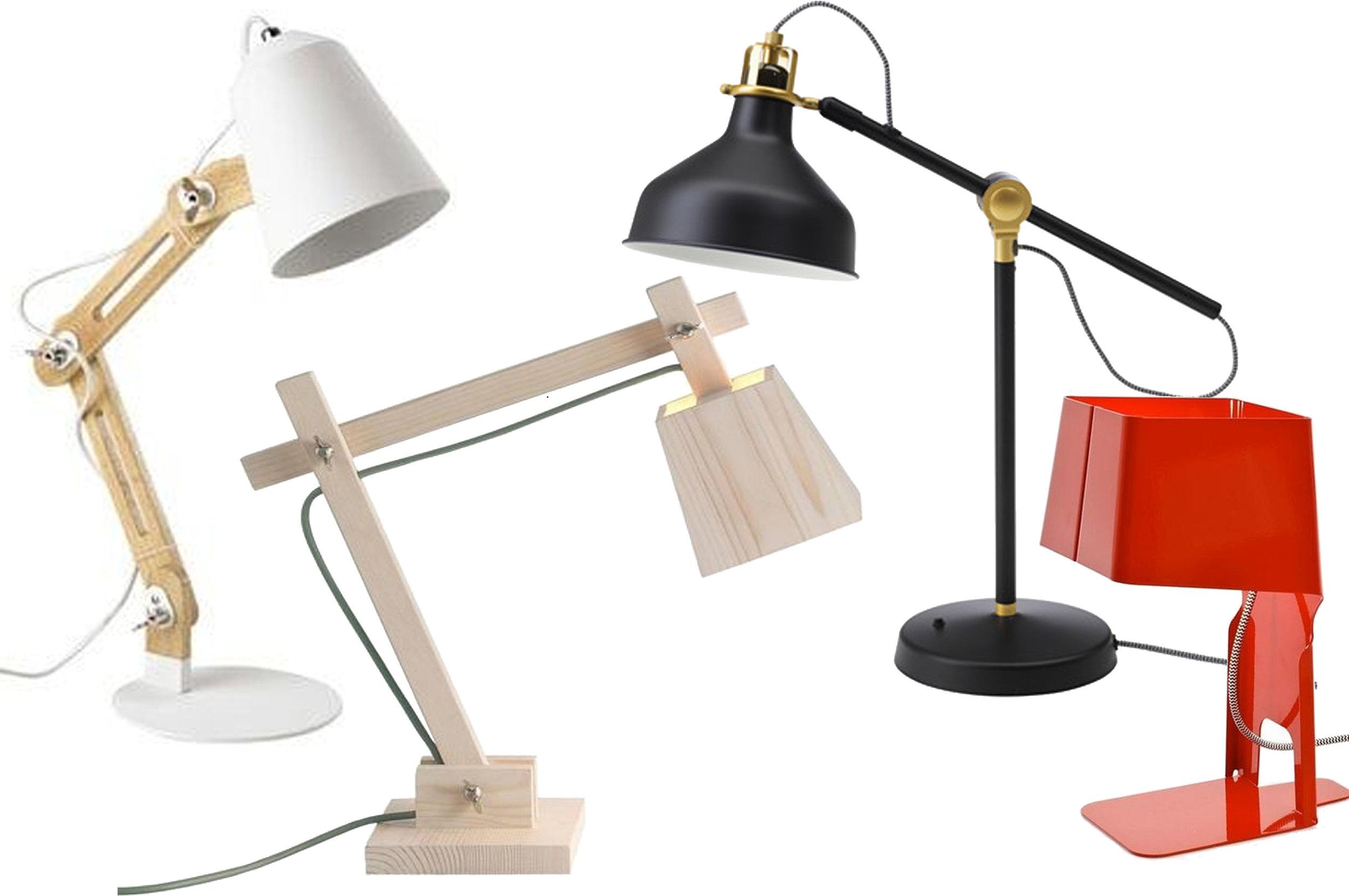 desk lamp Sweden  Maisons de Monde  - Wood Lamp  Muuto  - desk lamp Ranard  IKEA  - Leti 23 table lamp via  Ambiente Direct