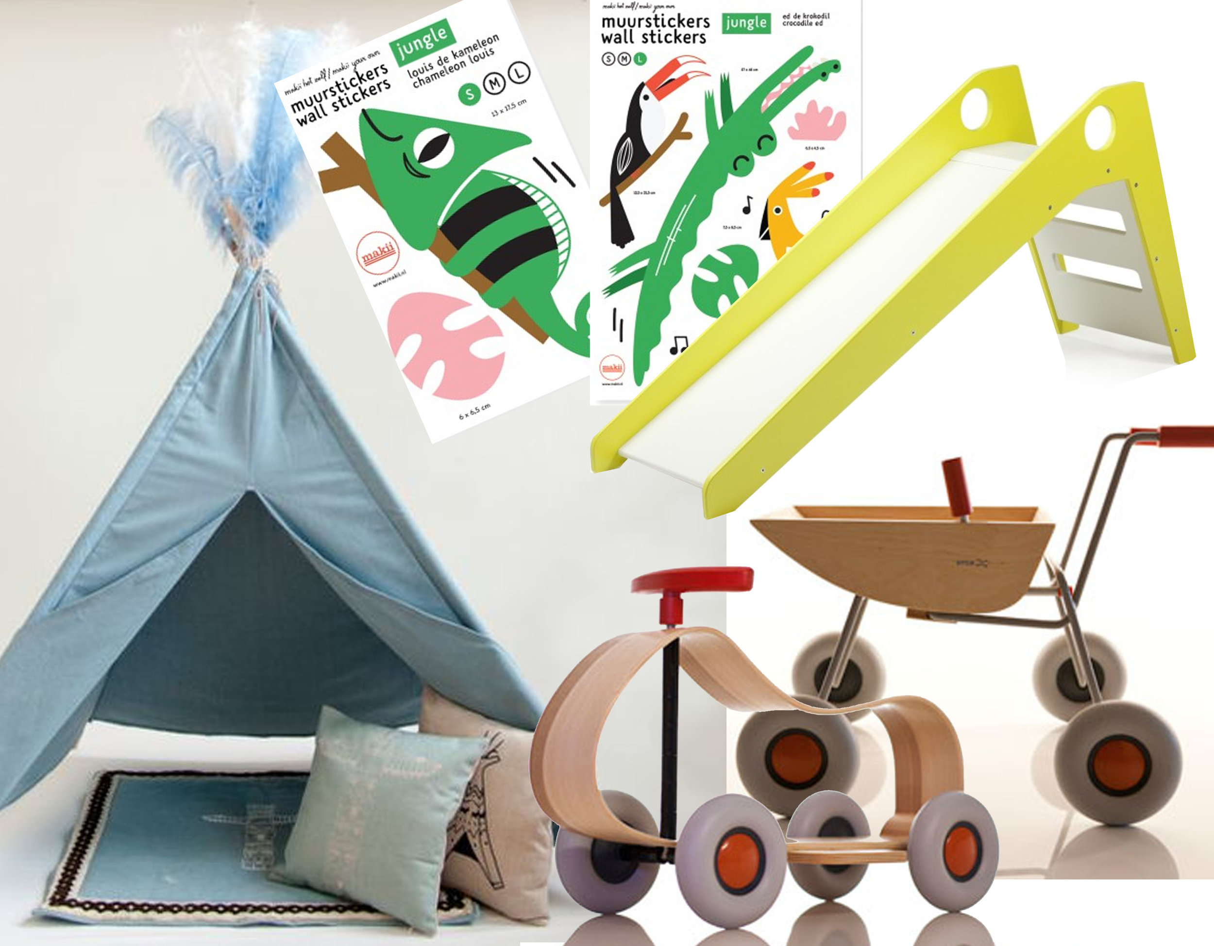 Denim tent for kids  My Own Little Indian  - wall sticker  Makii  - Slide Maxx  Arthur and Friends  - Sibis toys  Sirch